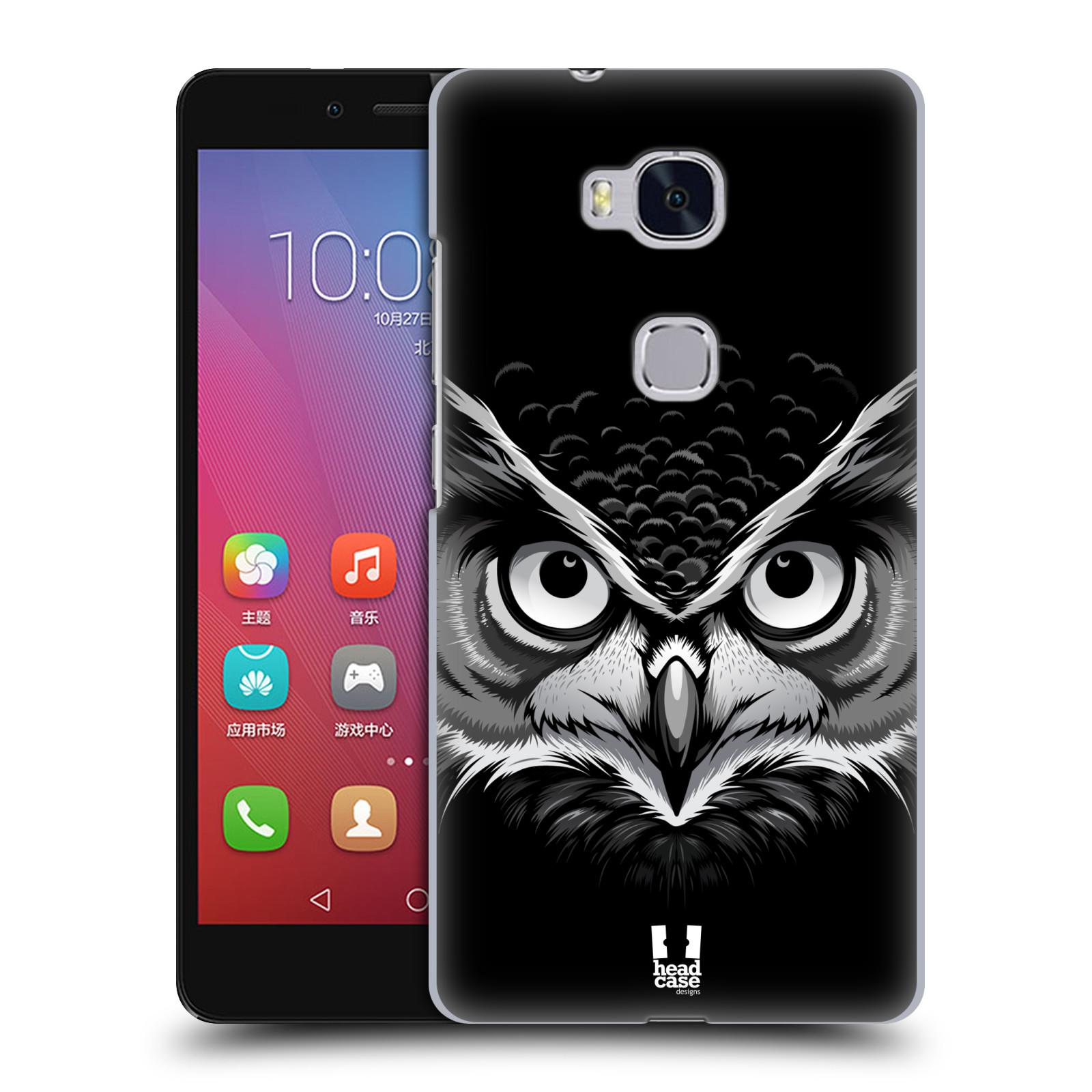 HEAD CASE pevný plastový obal na mobil HUAWEI HONOR 5X vzor Zvíře kreslená tvář 2 sova