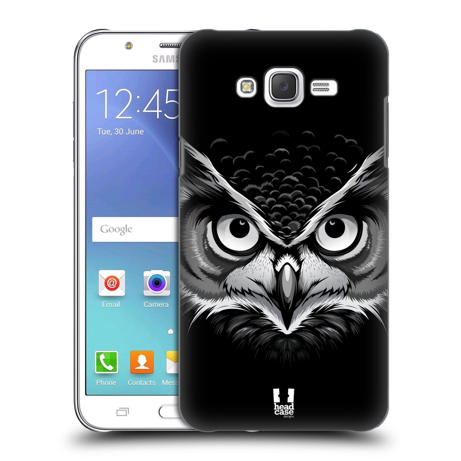 HEAD CASE plastový obal na mobil SAMSUNG Galaxy J7, J700 vzor Zvíře kreslená tvář 2 sova
