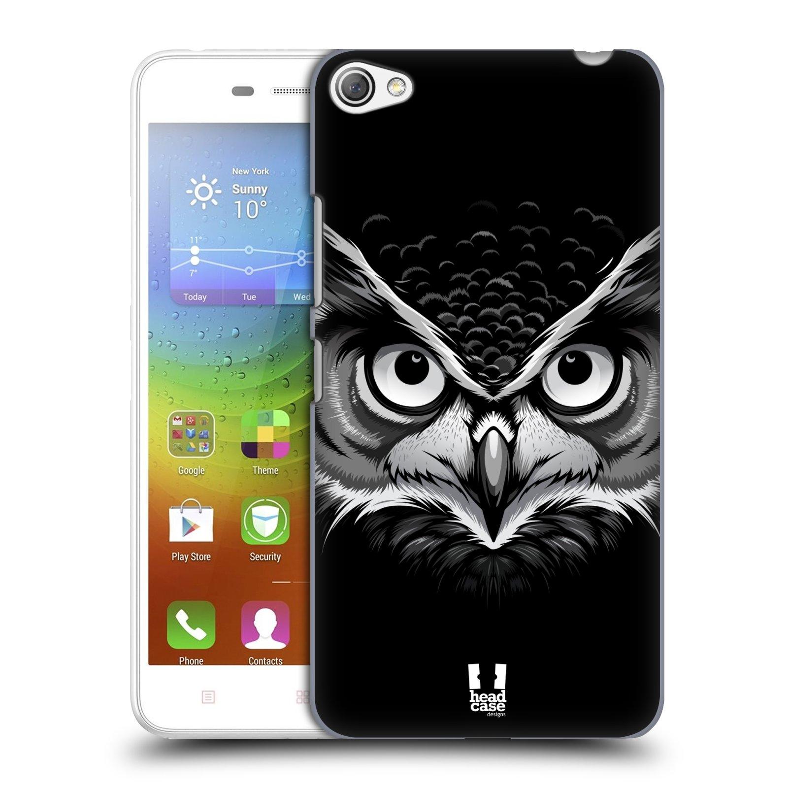HEAD CASE pevný plastový obal na mobil LENOVO S60 / LENOVO S60 DUAL SIM vzor Zvíře kreslená tvář 2 sova