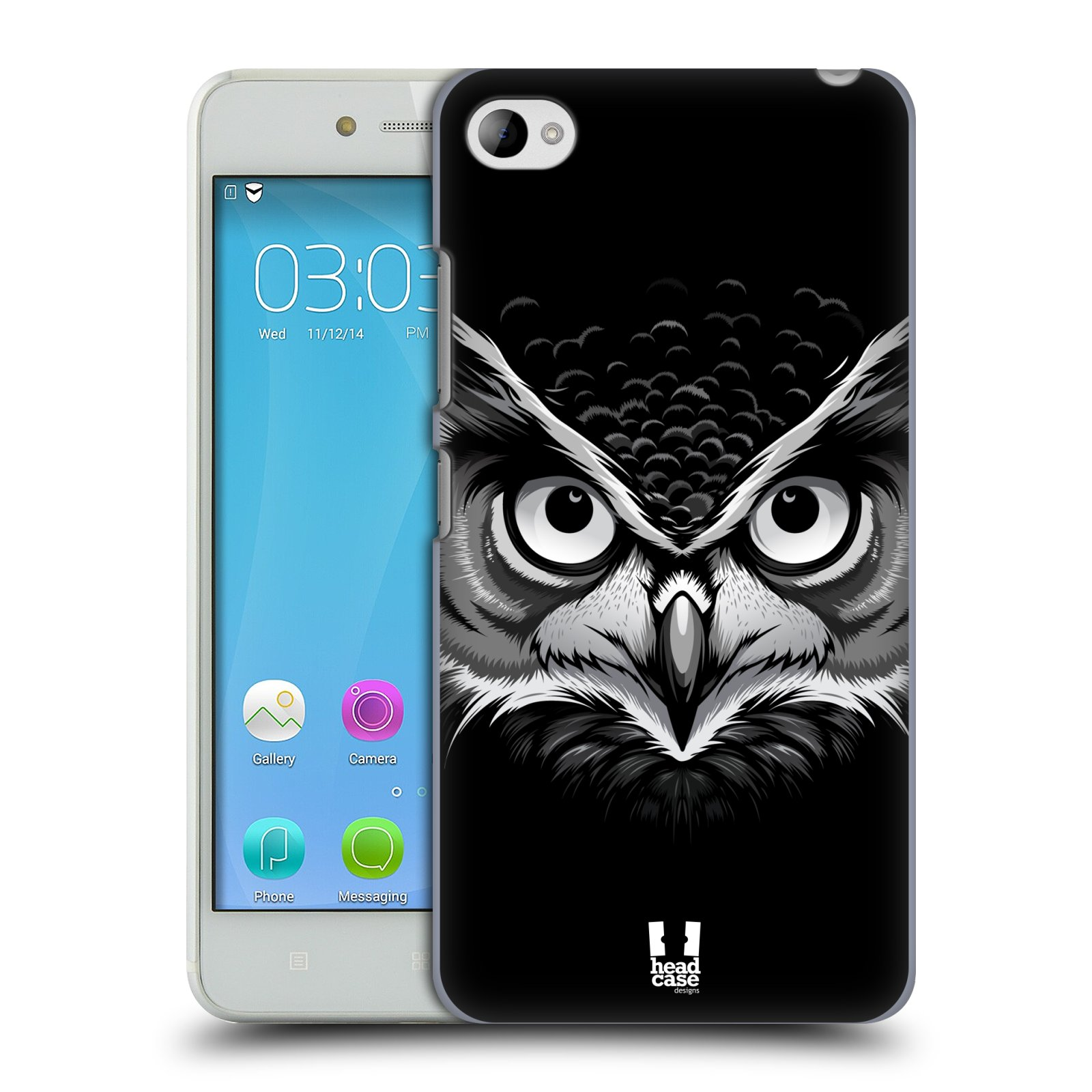 HEAD CASE pevný plastový obal na mobil LENOVO S90 vzor Zvíře kreslená tvář 2 sova