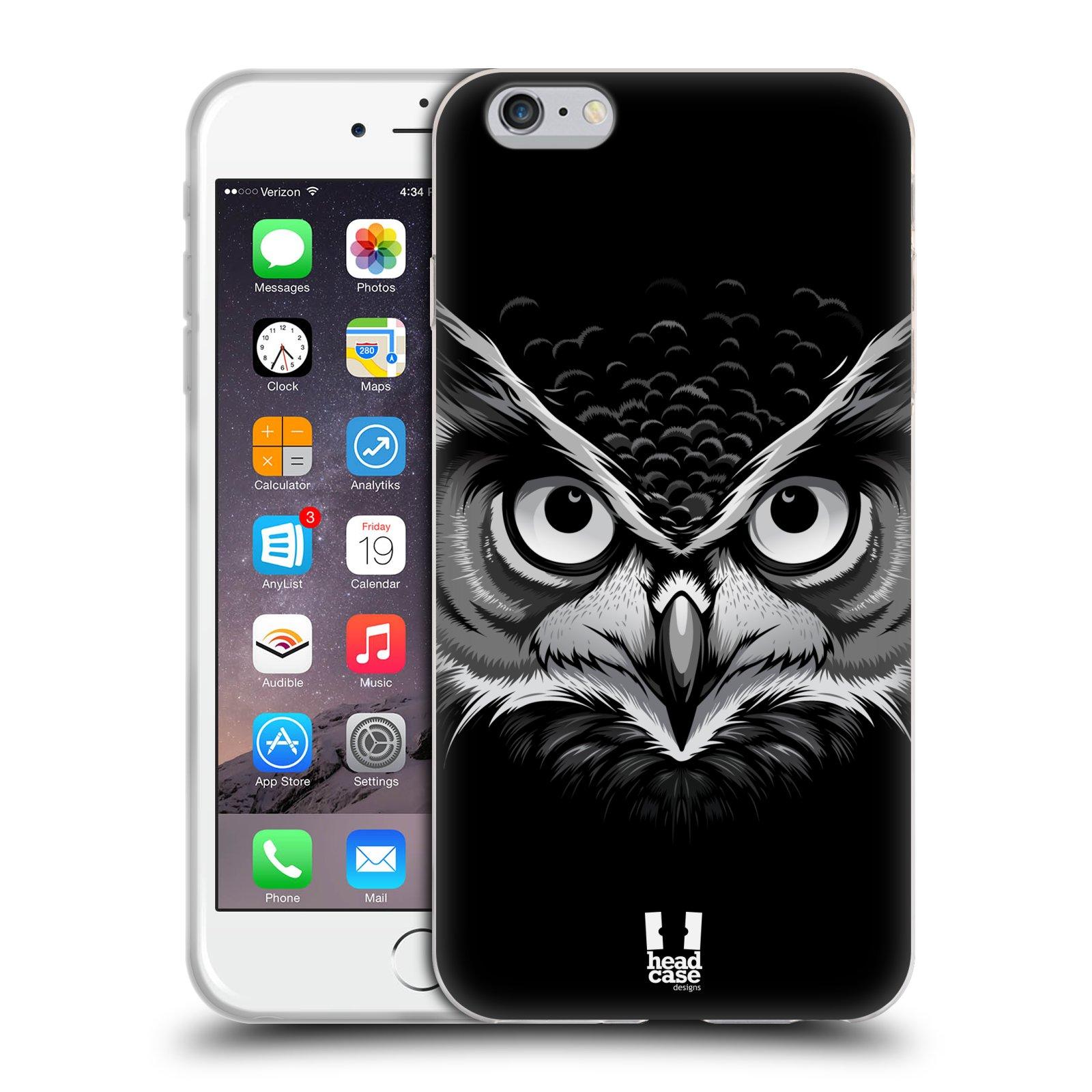 HEAD CASE silikonový obal na mobil Apple Iphone 6 PLUS/ 6S PLUS vzor Zvíře kreslená tvář 2 sova