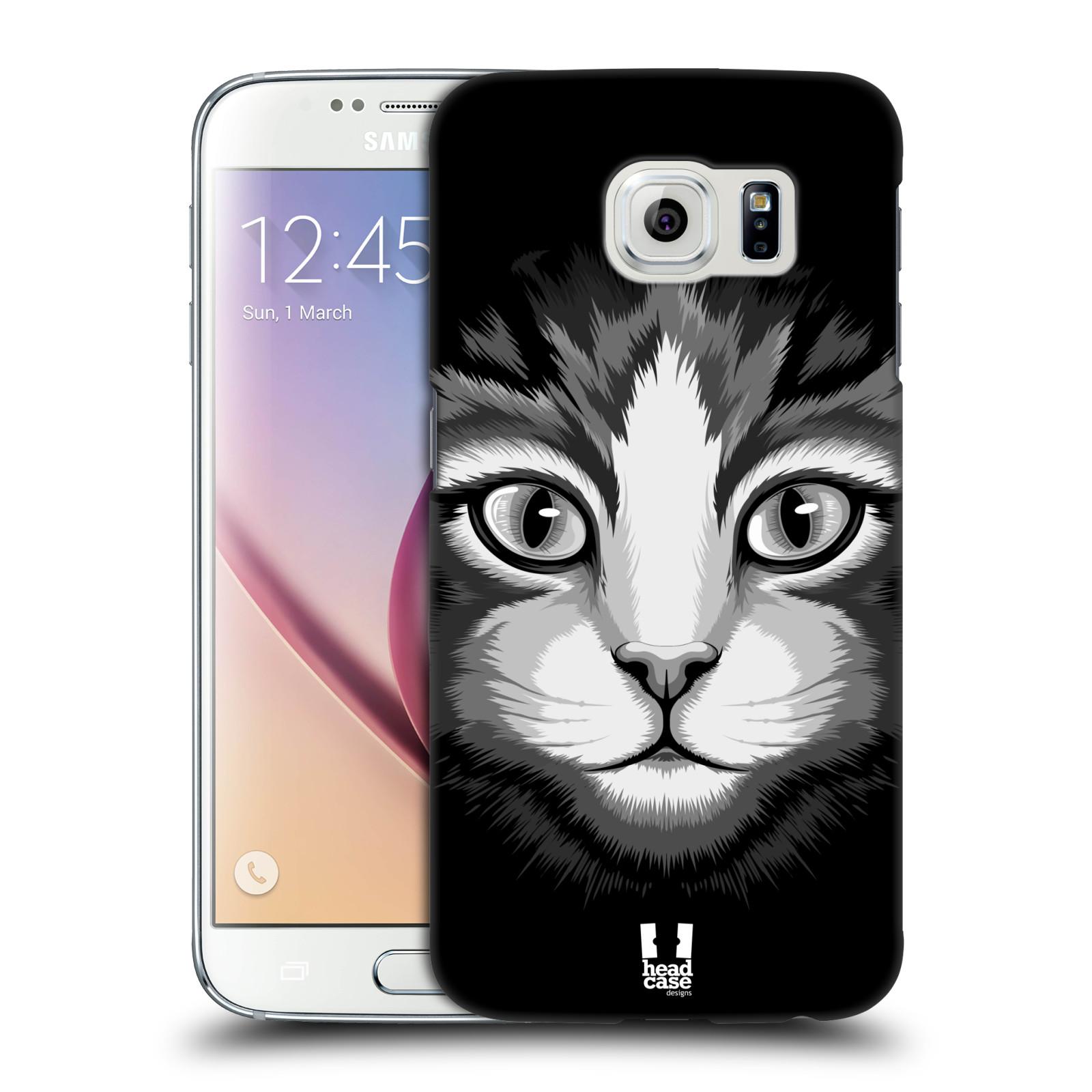 HEAD CASE plastový obal na mobil SAMSUNG Galaxy S6 (G9200, G920F) vzor Zvíře kreslená tvář 2 kočička
