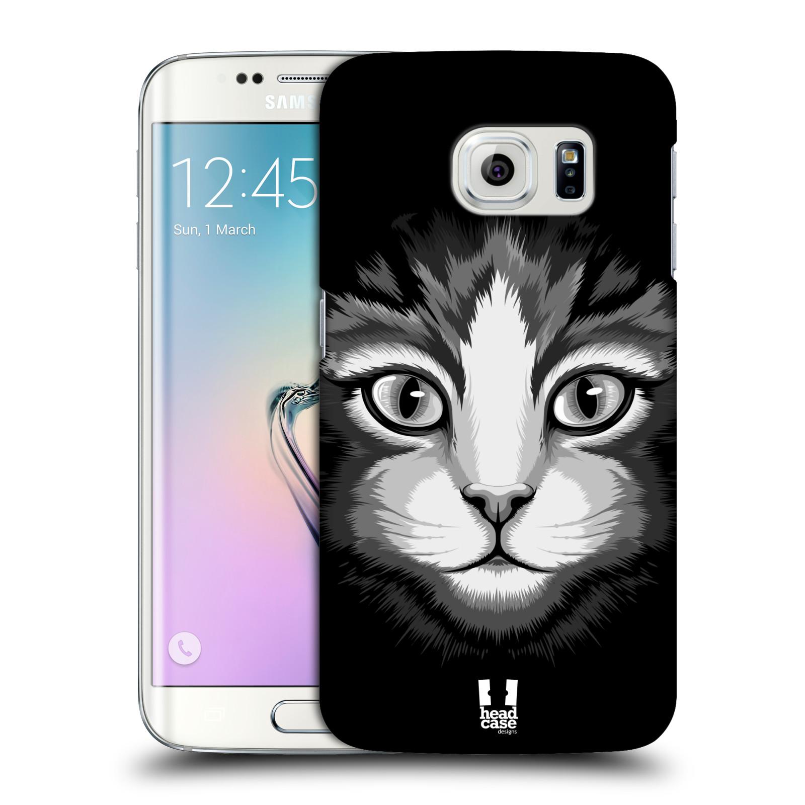 HEAD CASE plastový obal na mobil SAMSUNG Galaxy S6 EDGE (G9250, G925, G925F) vzor Zvíře kreslená tvář 2 kočička