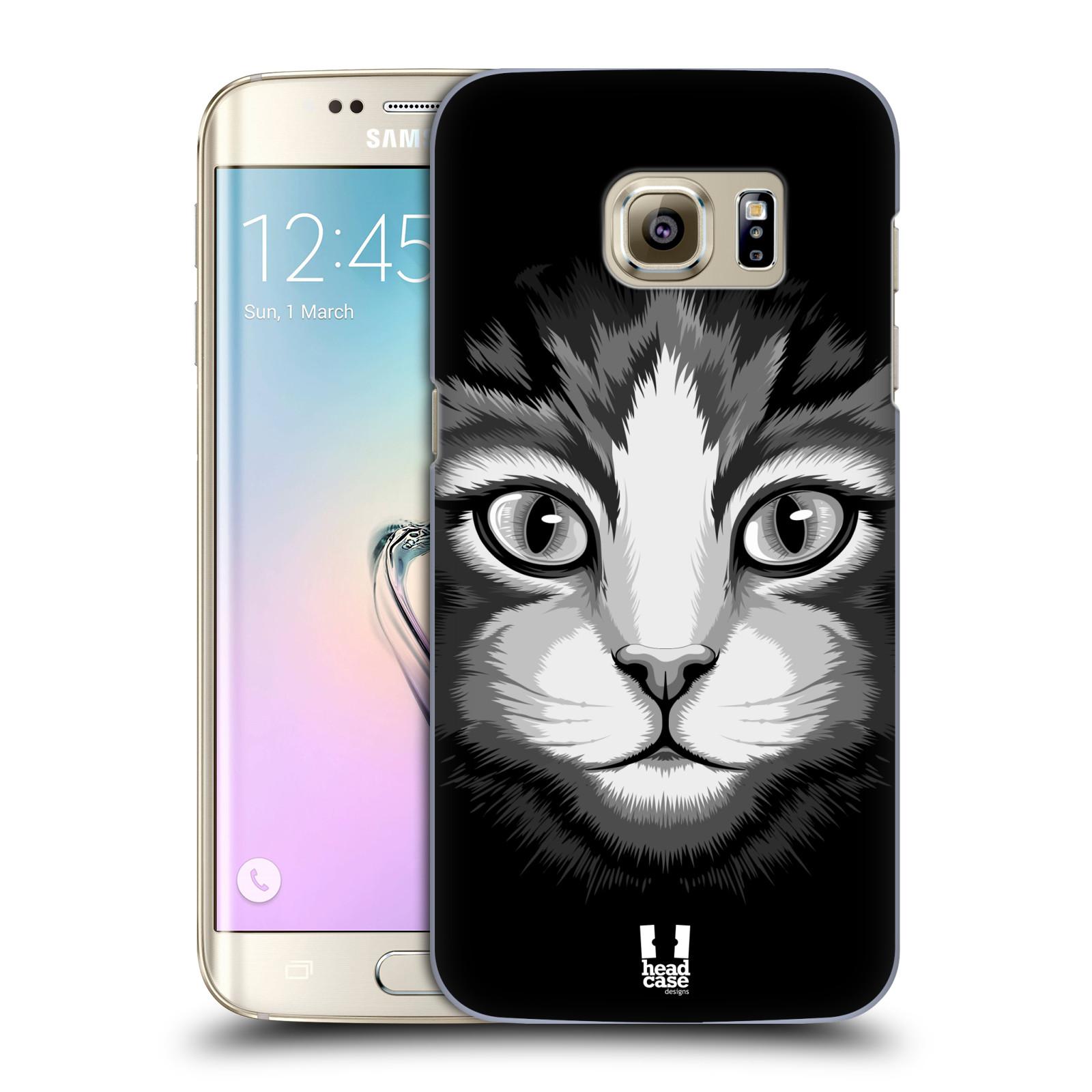HEAD CASE plastový obal na mobil SAMSUNG GALAXY S7 EDGE vzor Zvíře kreslená tvář 2 kočička