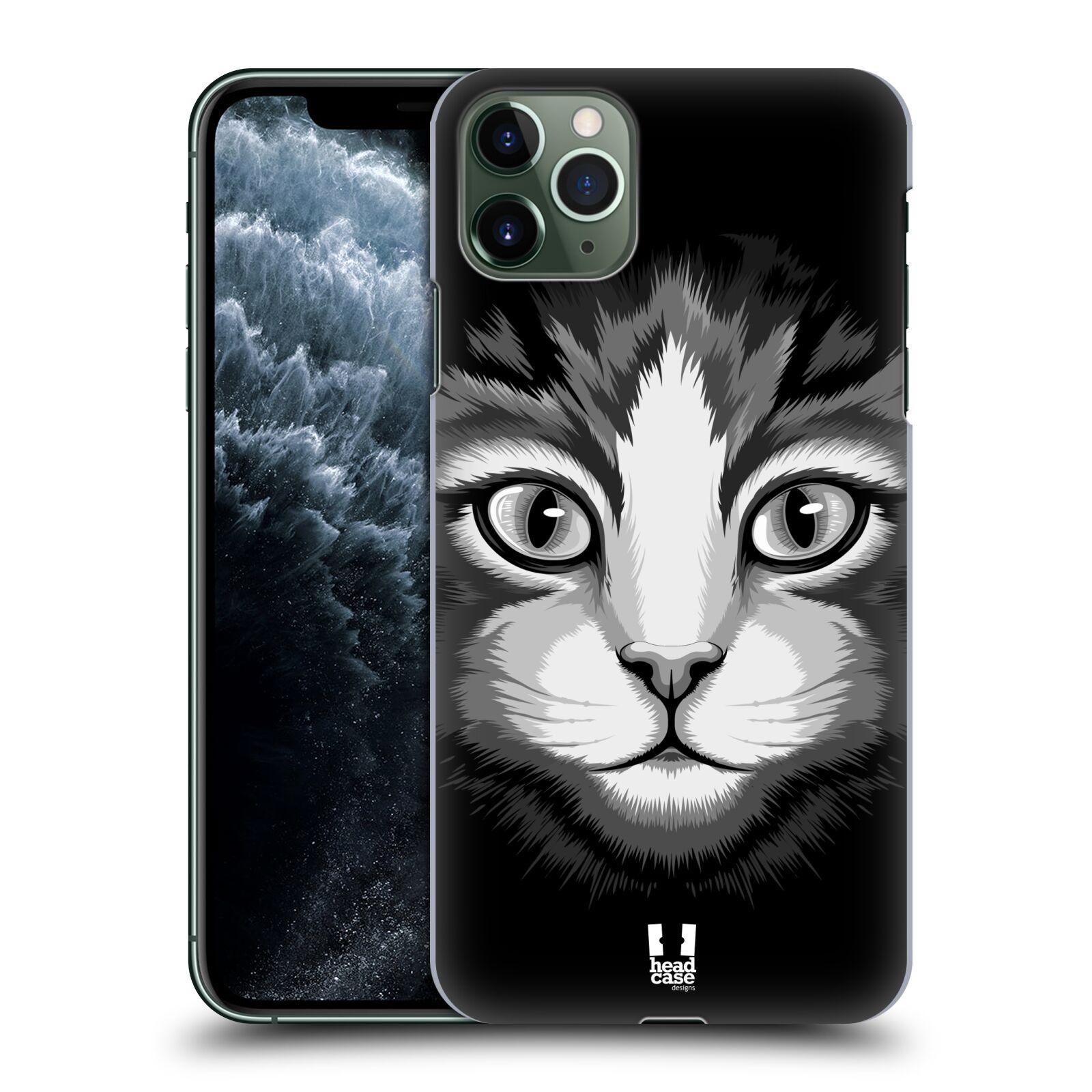 Pouzdro na mobil Apple Iphone 11 PRO MAX - HEAD CASE - vzor Zvíře kreslená tvář 2 kočička