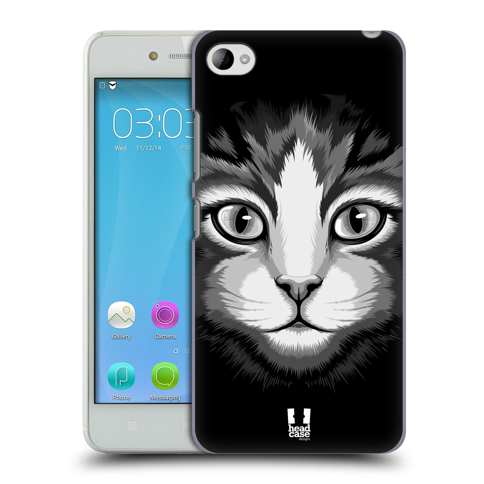 HEAD CASE pevný plastový obal na mobil LENOVO S90 vzor Zvíře kreslená tvář 2 kočička
