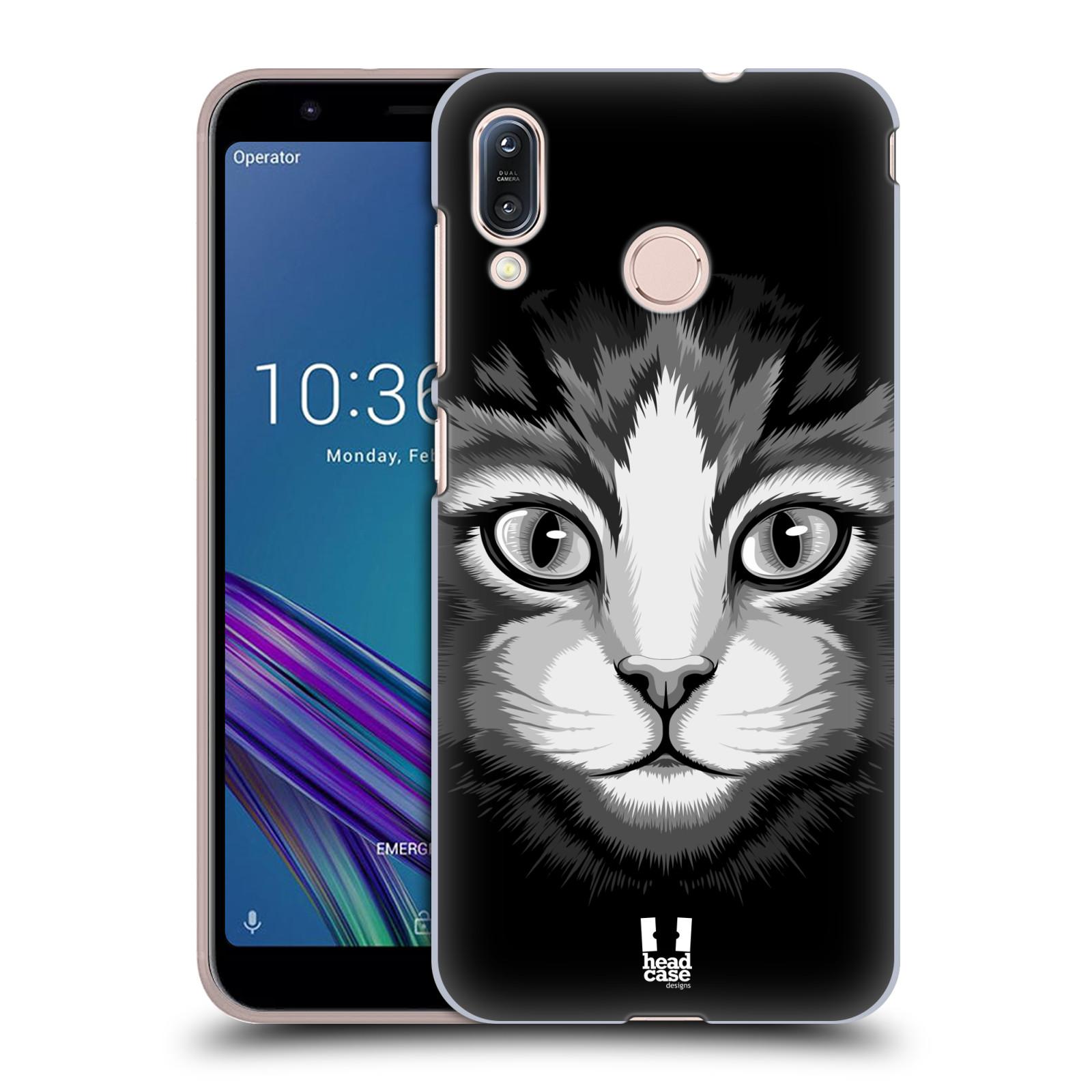 Pouzdro na mobil Asus Zenfone Max M1 (ZB555KL) - HEAD CASE - vzor Zvíře kreslená tvář 2 kočička
