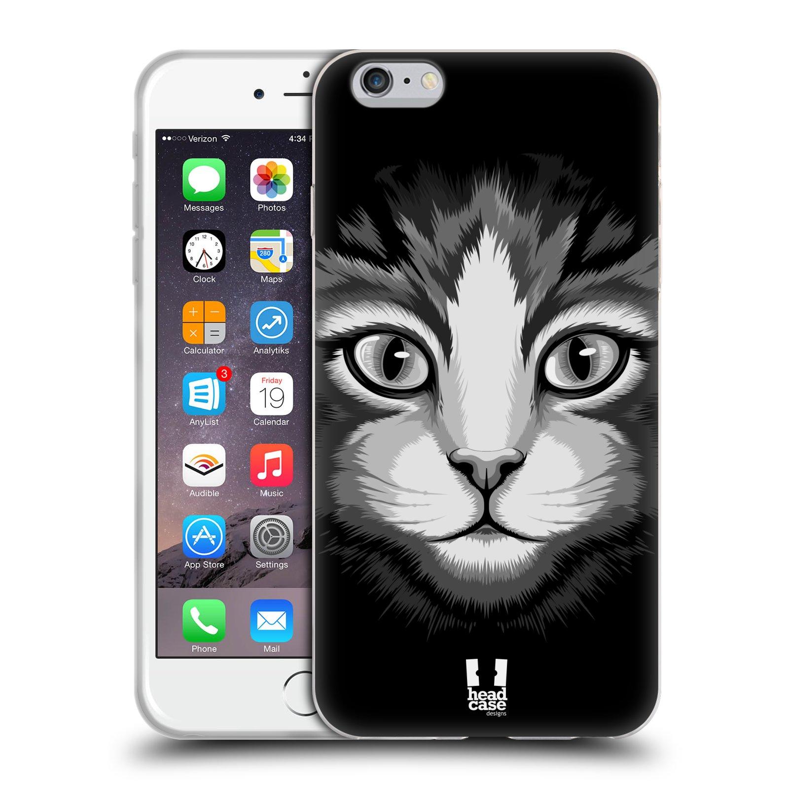 HEAD CASE silikonový obal na mobil Apple Iphone 6 PLUS/ 6S PLUS vzor Zvíře kreslená tvář 2 kočička