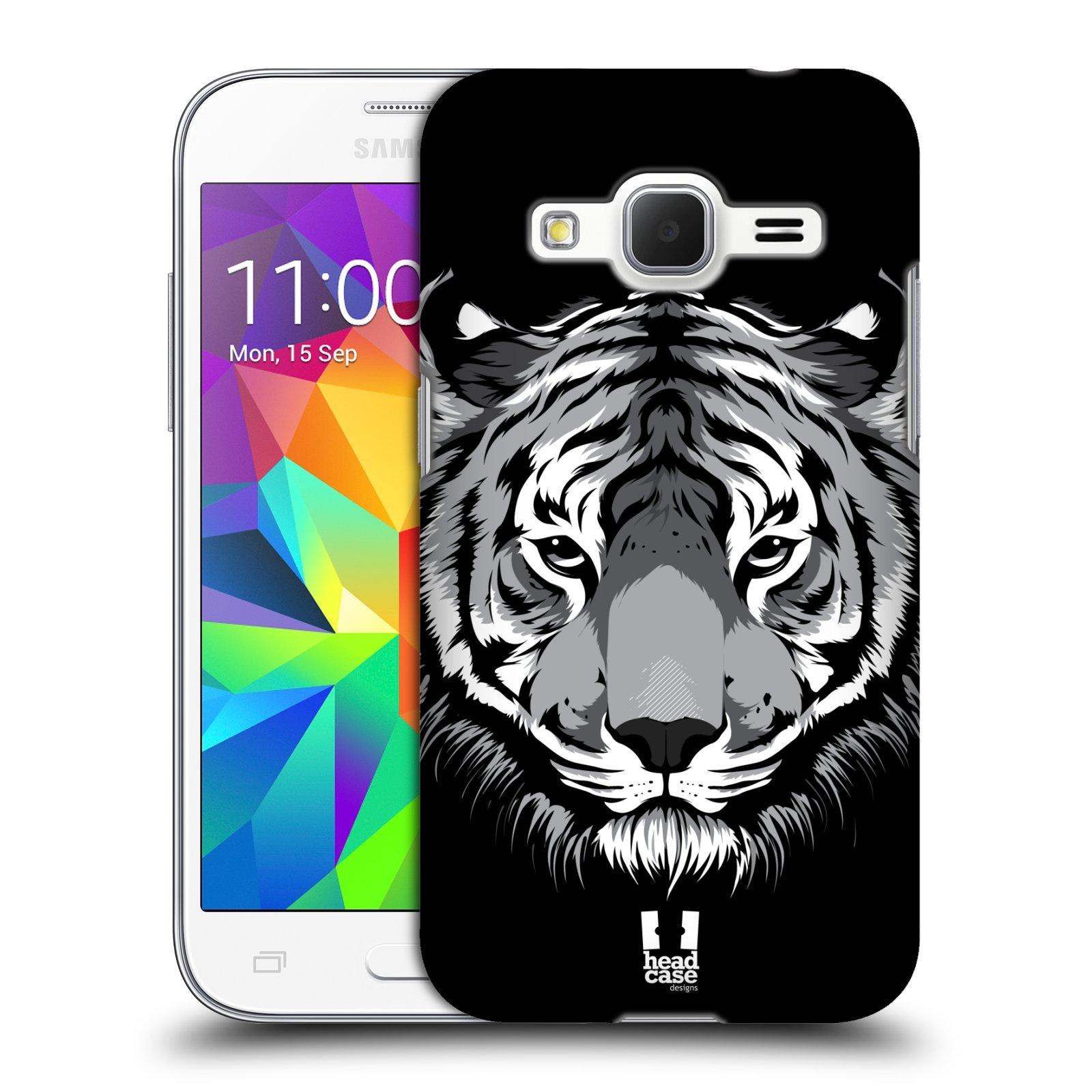 HEAD CASE plastový obal na mobil SAMSUNG GALAXY Core Prime (Core Prime VE) vzor Zvíře kreslená tvář 2 tygr