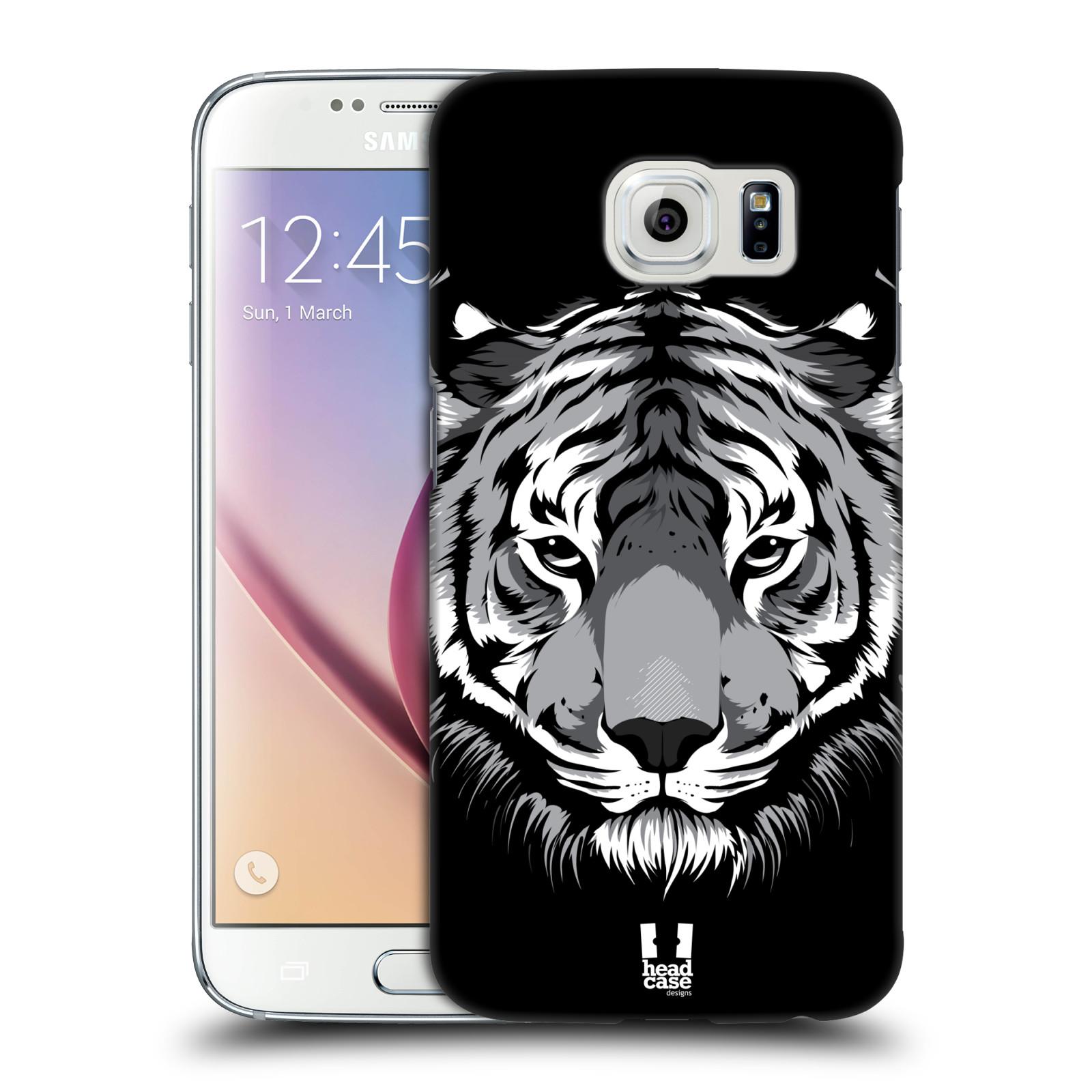 HEAD CASE plastový obal na mobil SAMSUNG Galaxy S6 (G9200, G920F) vzor Zvíře kreslená tvář 2 tygr
