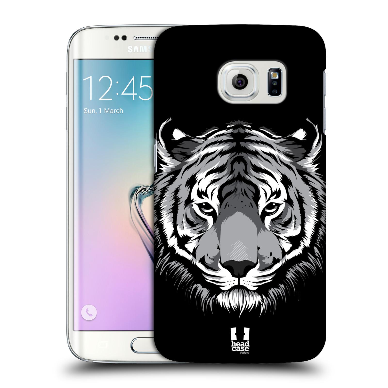 HEAD CASE plastový obal na mobil SAMSUNG Galaxy S6 EDGE (G9250, G925, G925F) vzor Zvíře kreslená tvář 2 tygr