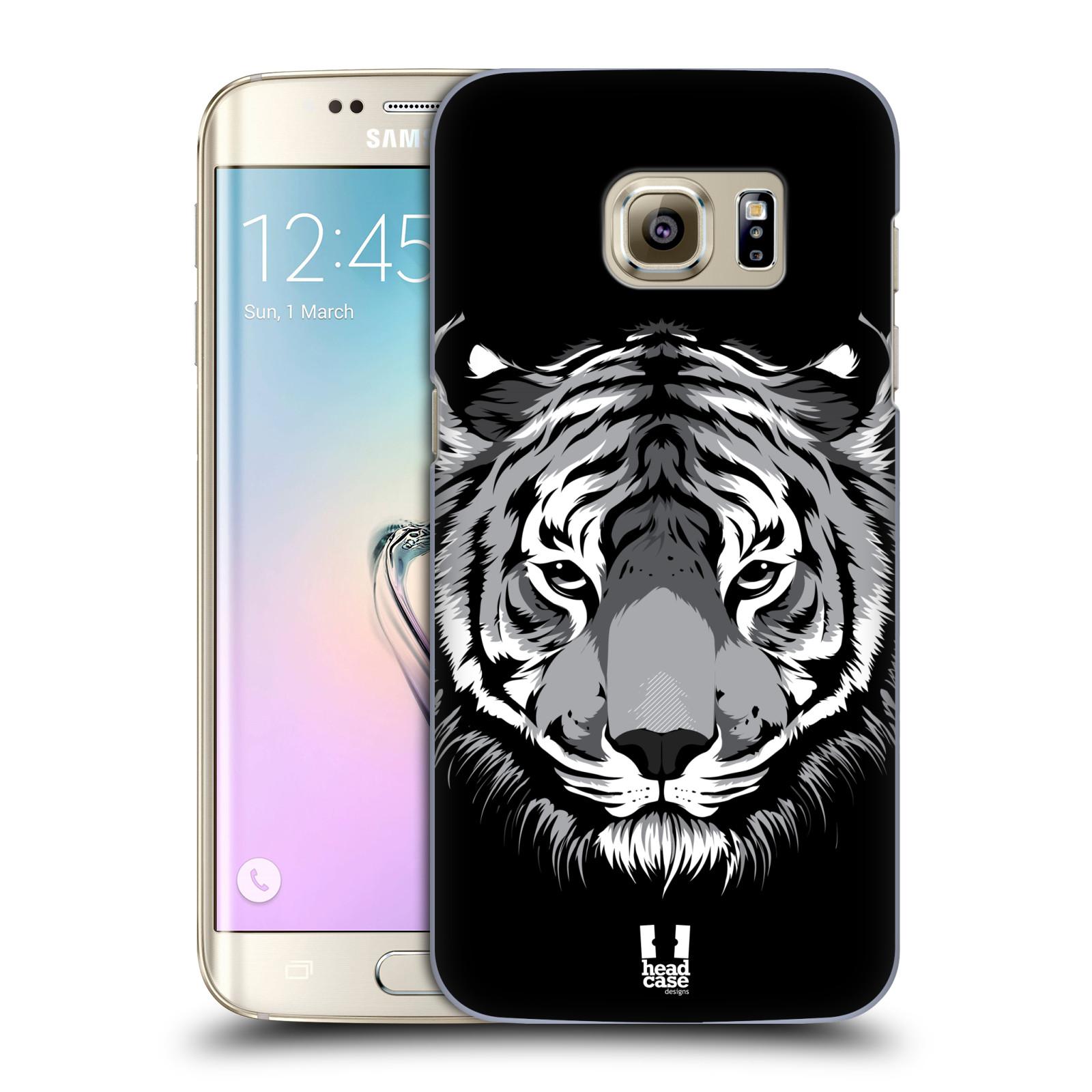 HEAD CASE plastový obal na mobil SAMSUNG GALAXY S7 EDGE vzor Zvíře kreslená tvář 2 tygr