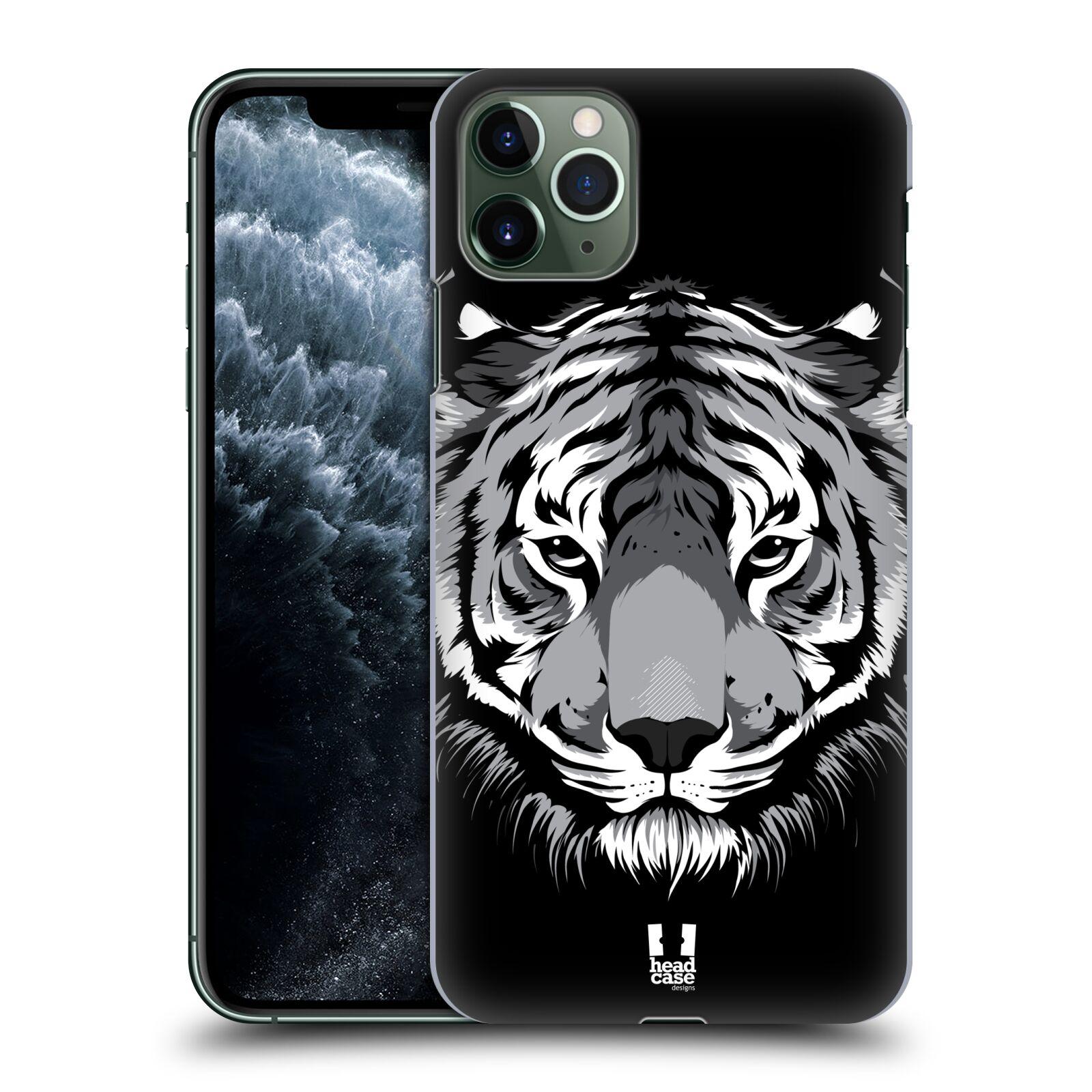 Pouzdro na mobil Apple Iphone 11 PRO MAX - HEAD CASE - vzor Zvíře kreslená tvář 2 tygr