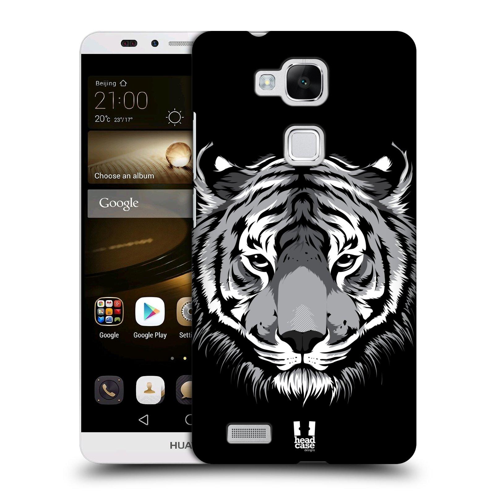 HEAD CASE plastový obal na mobil Huawei Mate 7 vzor Zvíře kreslená tvář 2 tygr