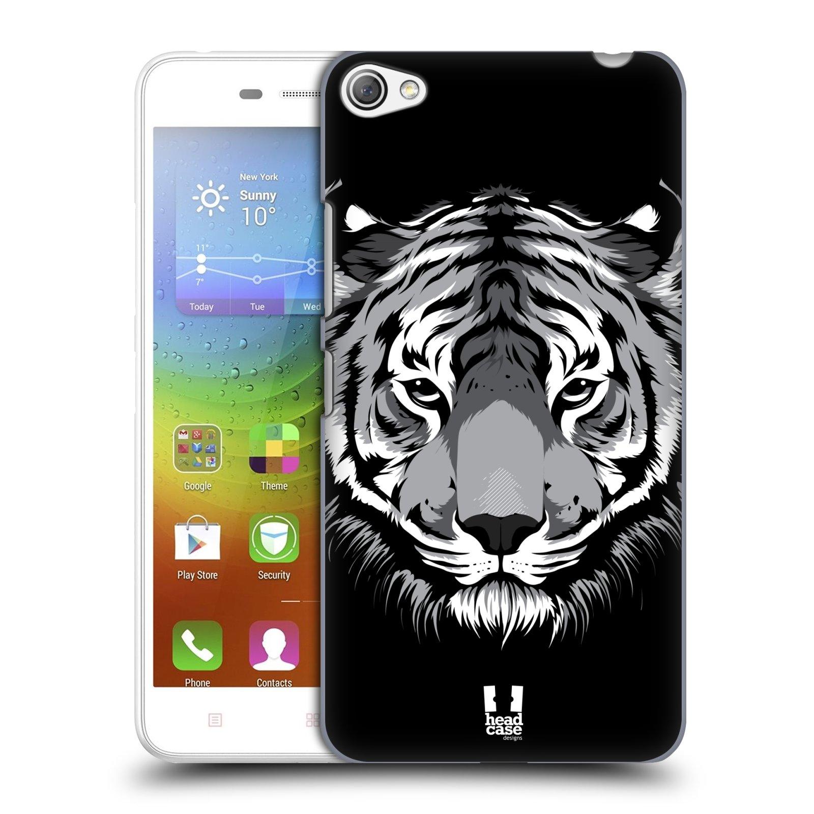 HEAD CASE pevný plastový obal na mobil LENOVO S60 / LENOVO S60 DUAL SIM vzor Zvíře kreslená tvář 2 tygr