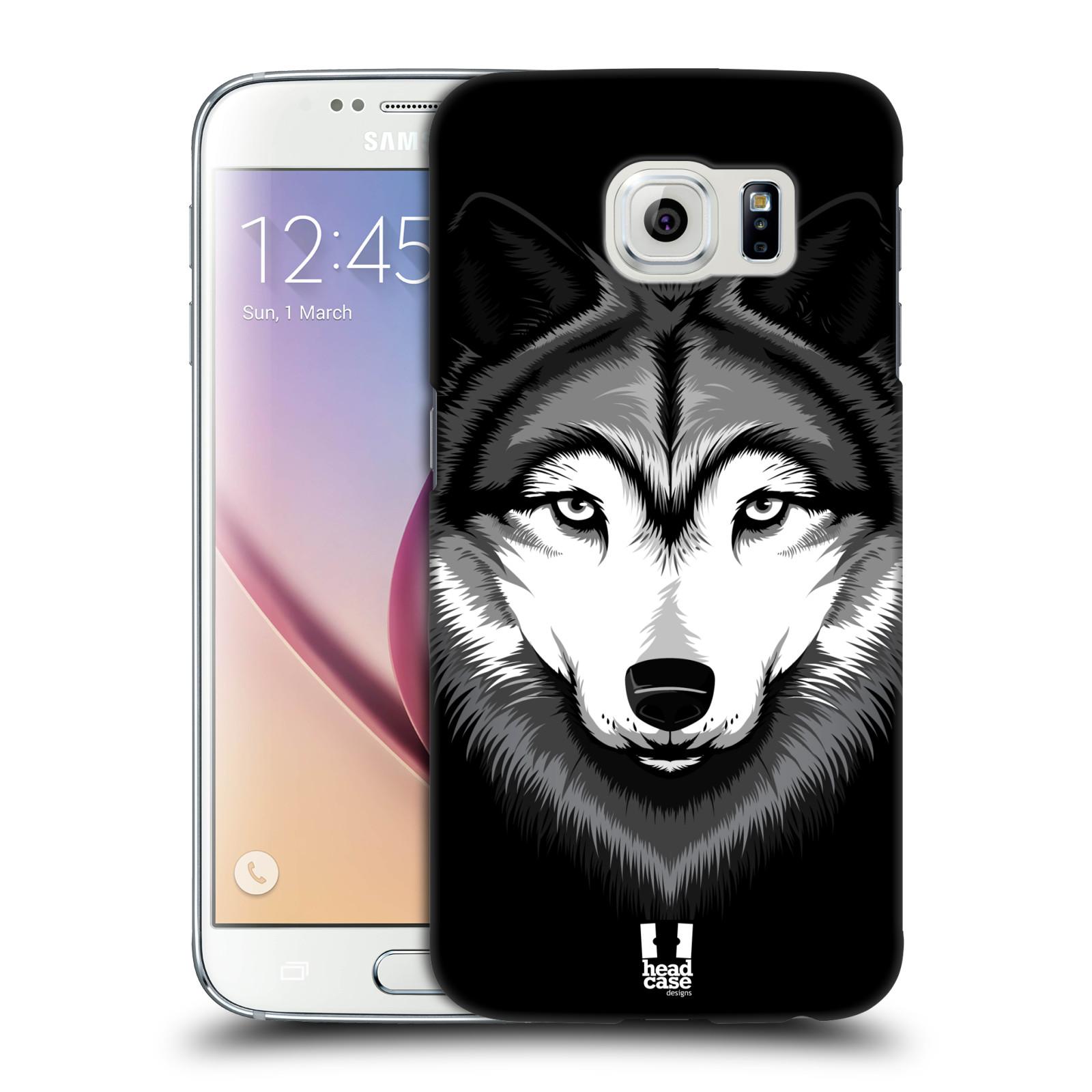 HEAD CASE plastový obal na mobil SAMSUNG Galaxy S6 (G9200, G920F) vzor Zvíře kreslená tvář 2 vlk
