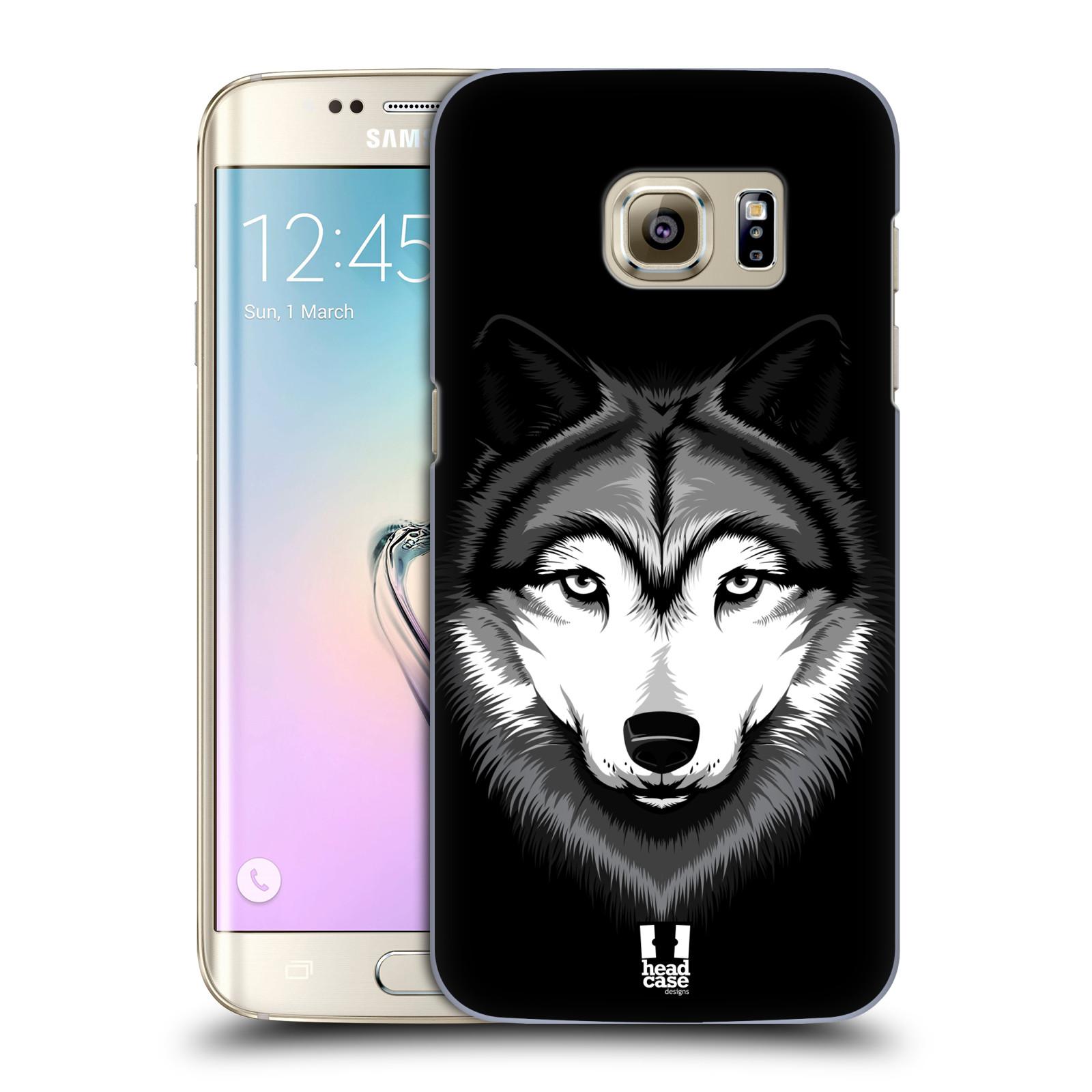 HEAD CASE plastový obal na mobil SAMSUNG GALAXY S7 EDGE vzor Zvíře kreslená tvář 2 vlk