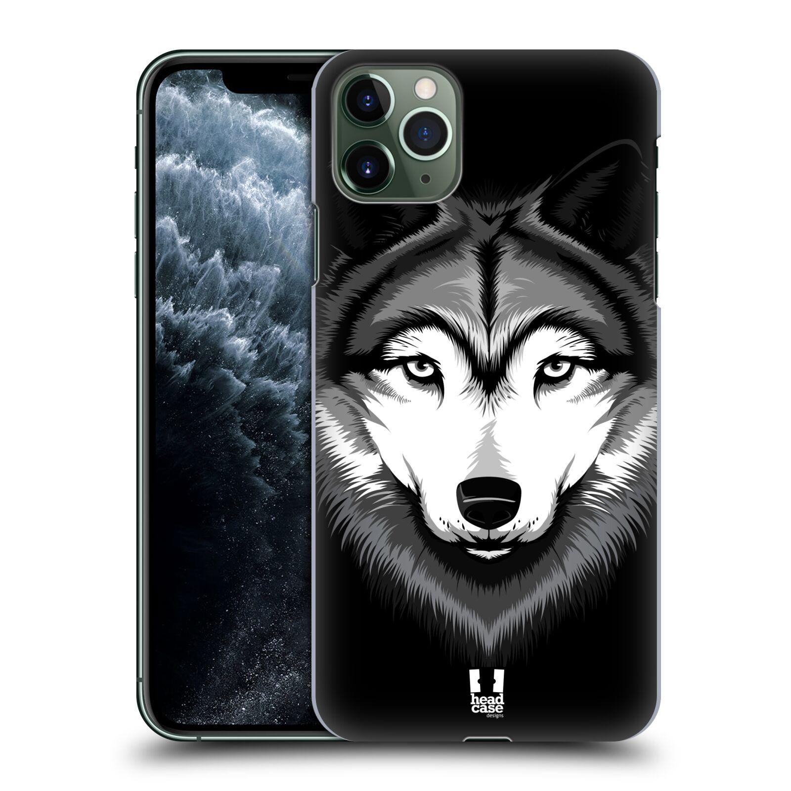 Pouzdro na mobil Apple Iphone 11 PRO MAX - HEAD CASE - vzor Zvíře kreslená tvář 2 vlk