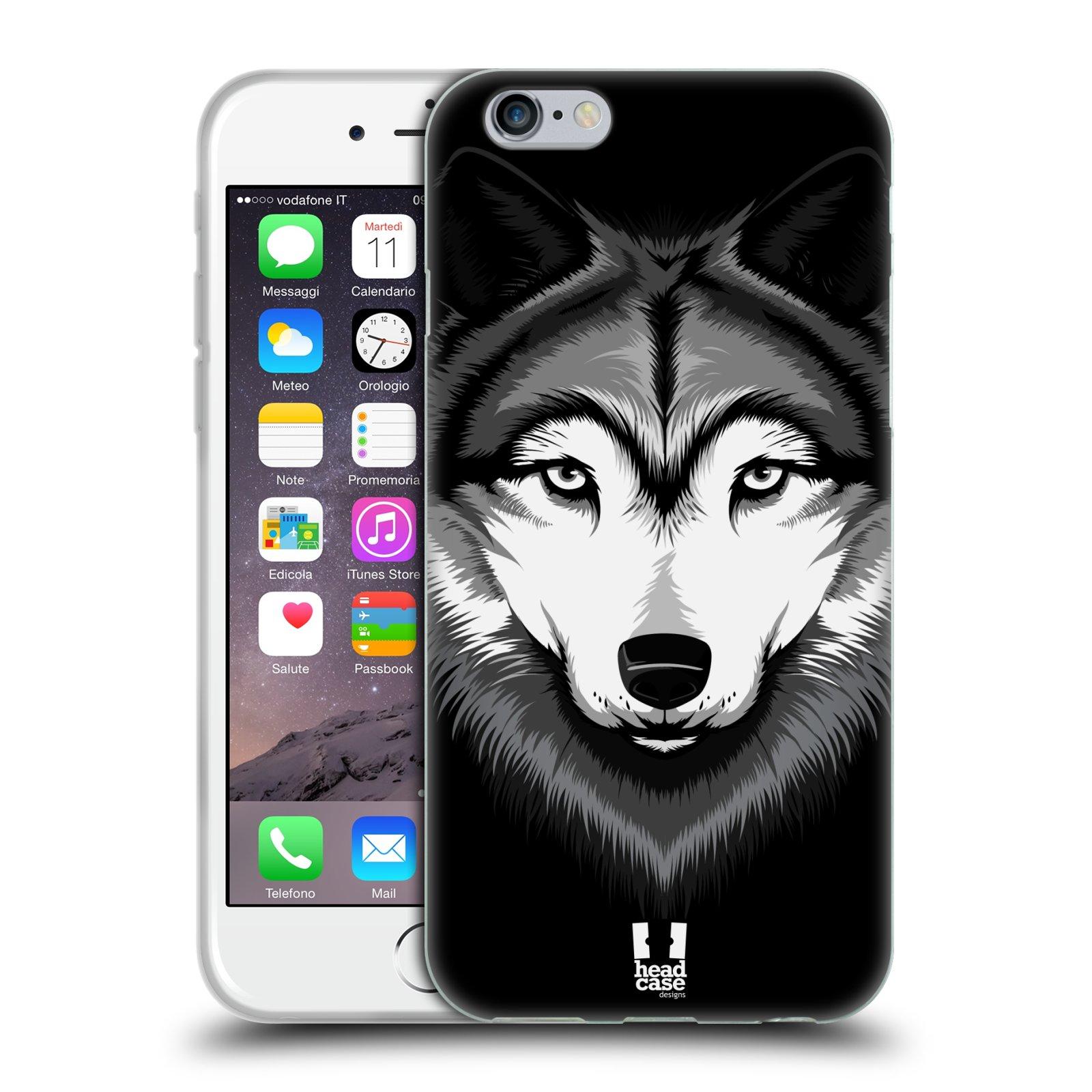 HEAD CASE silikonový obal na mobil Apple Iphone 6 6S vzor Zvíře kreslená  tvář 2 94175d315e3