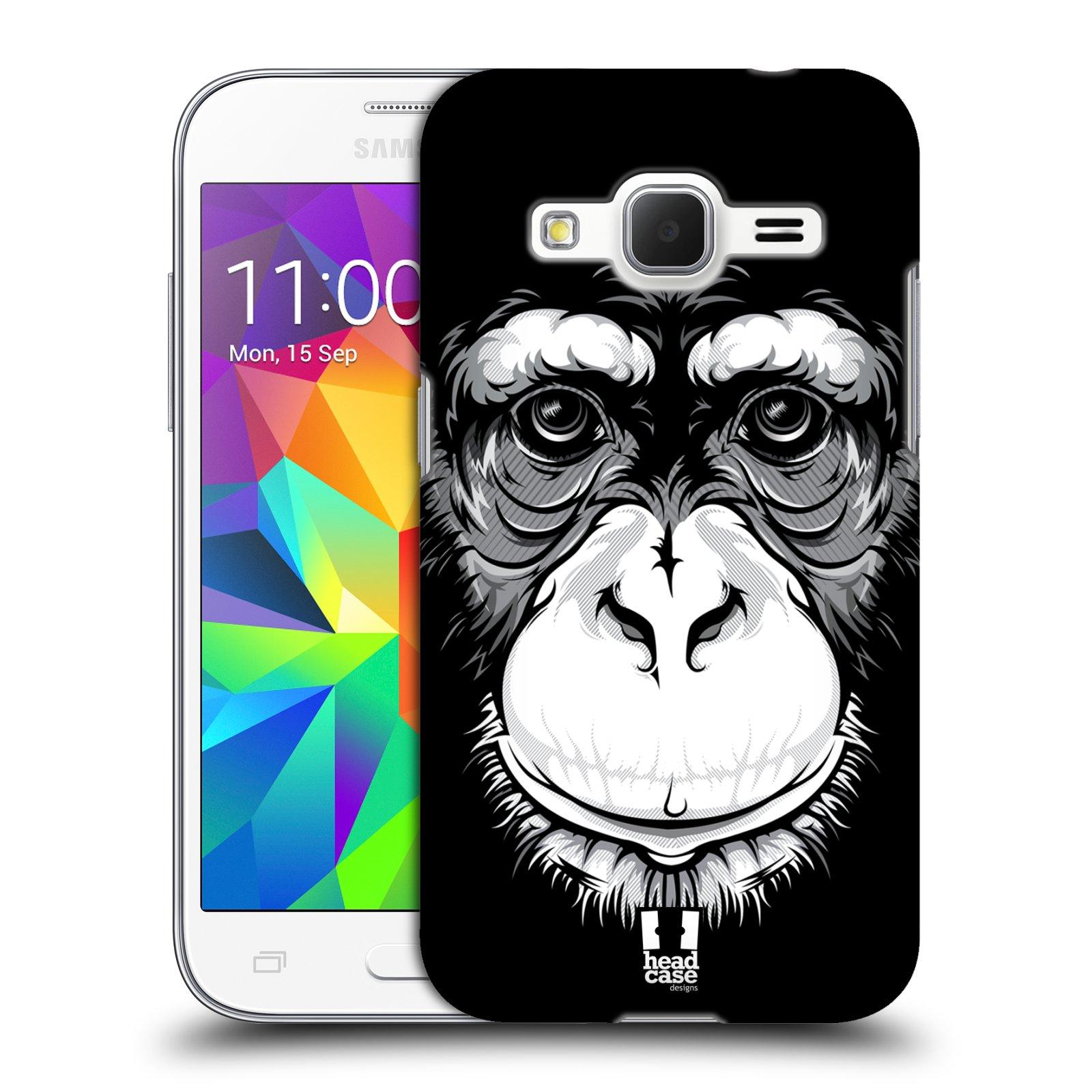 HEAD CASE plastový obal na mobil SAMSUNG GALAXY Core Prime (Core Prime VE) vzor Zvíře kreslená tvář šimpanz