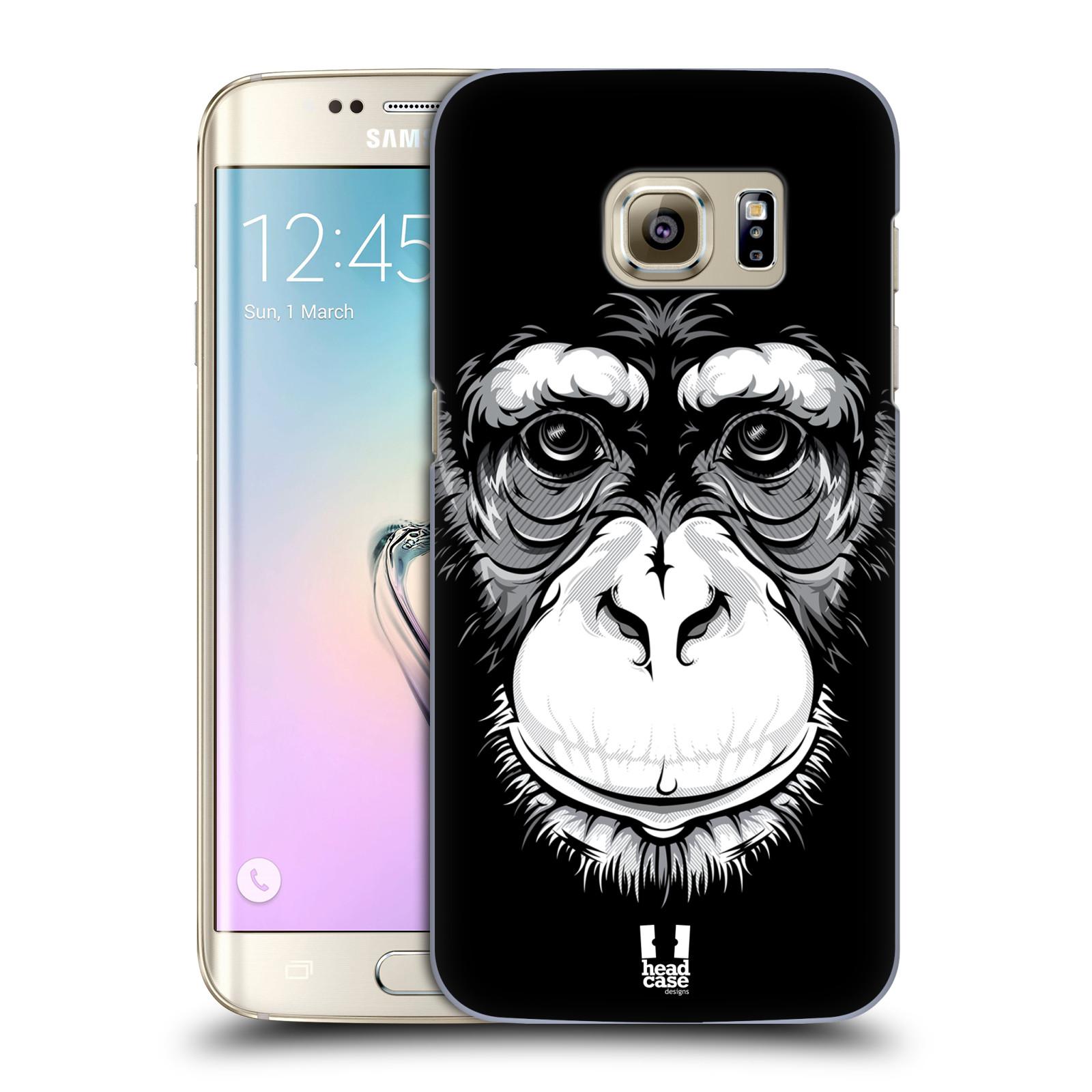 HEAD CASE plastový obal na mobil SAMSUNG GALAXY S7 EDGE vzor Zvíře kreslená tvář šimpanz