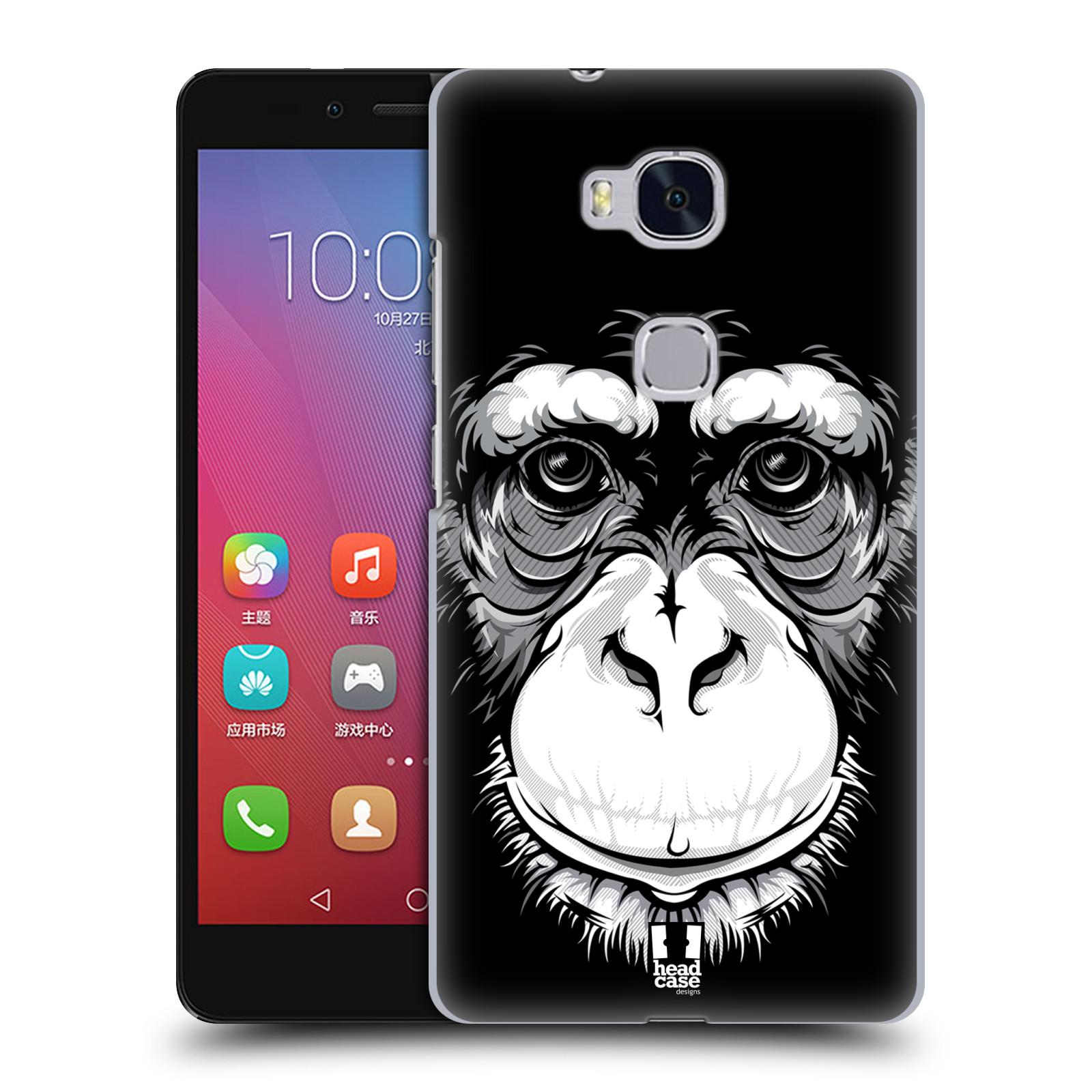 HEAD CASE pevný plastový obal na mobil HUAWEI HONOR 5X vzor Zvíře kreslená tvář šimpanz
