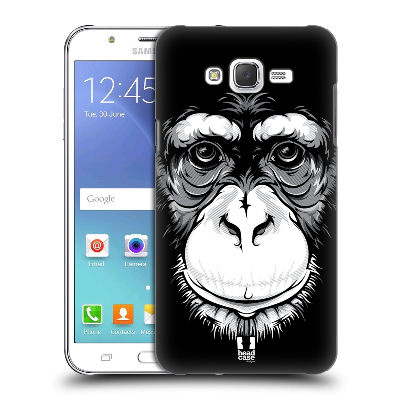 HEAD CASE plastový obal na mobil SAMSUNG Galaxy J7, J700 vzor Zvíře kreslená tvář šimpanz