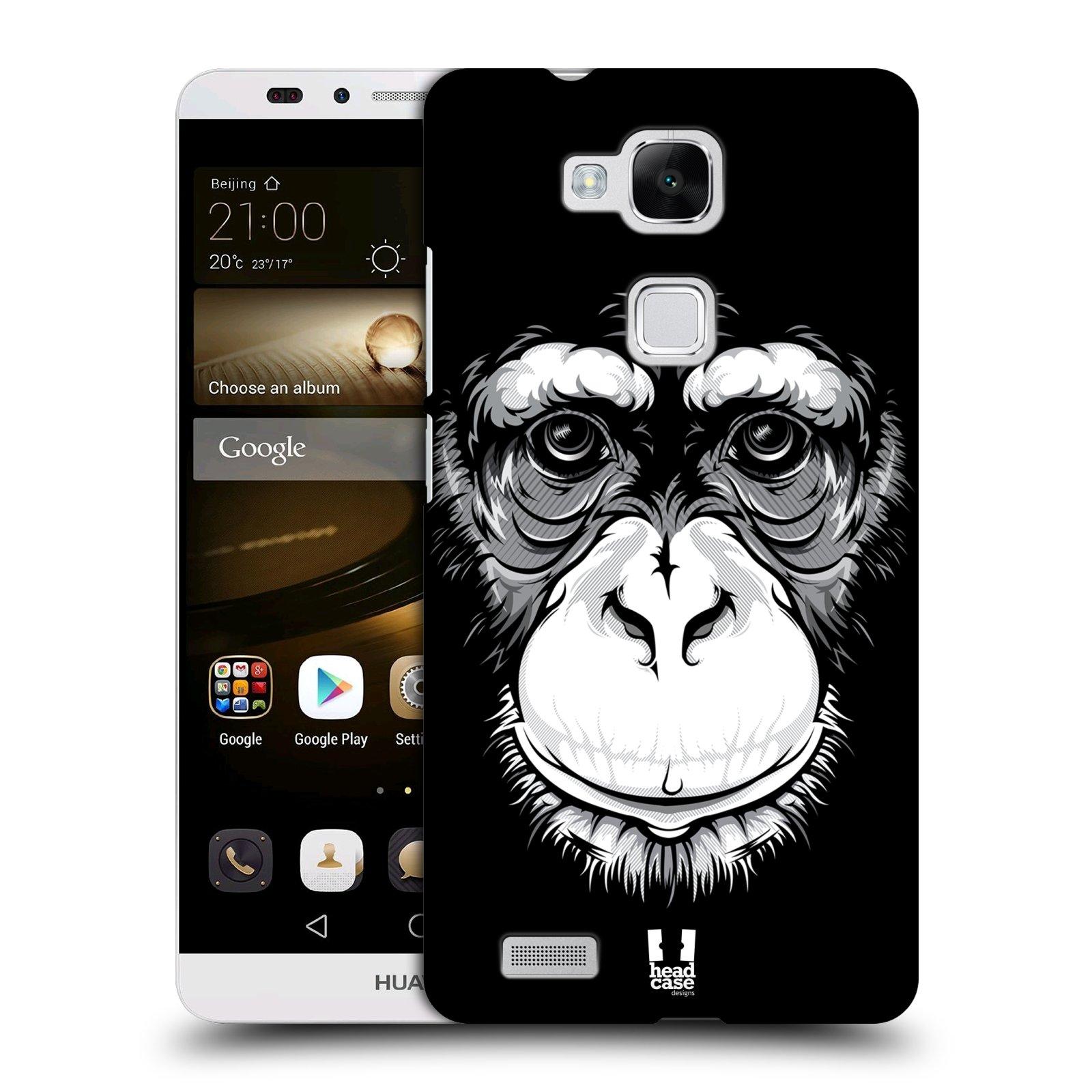 HEAD CASE plastový obal na mobil Huawei Mate 7 vzor Zvíře kreslená tvář šimpanz