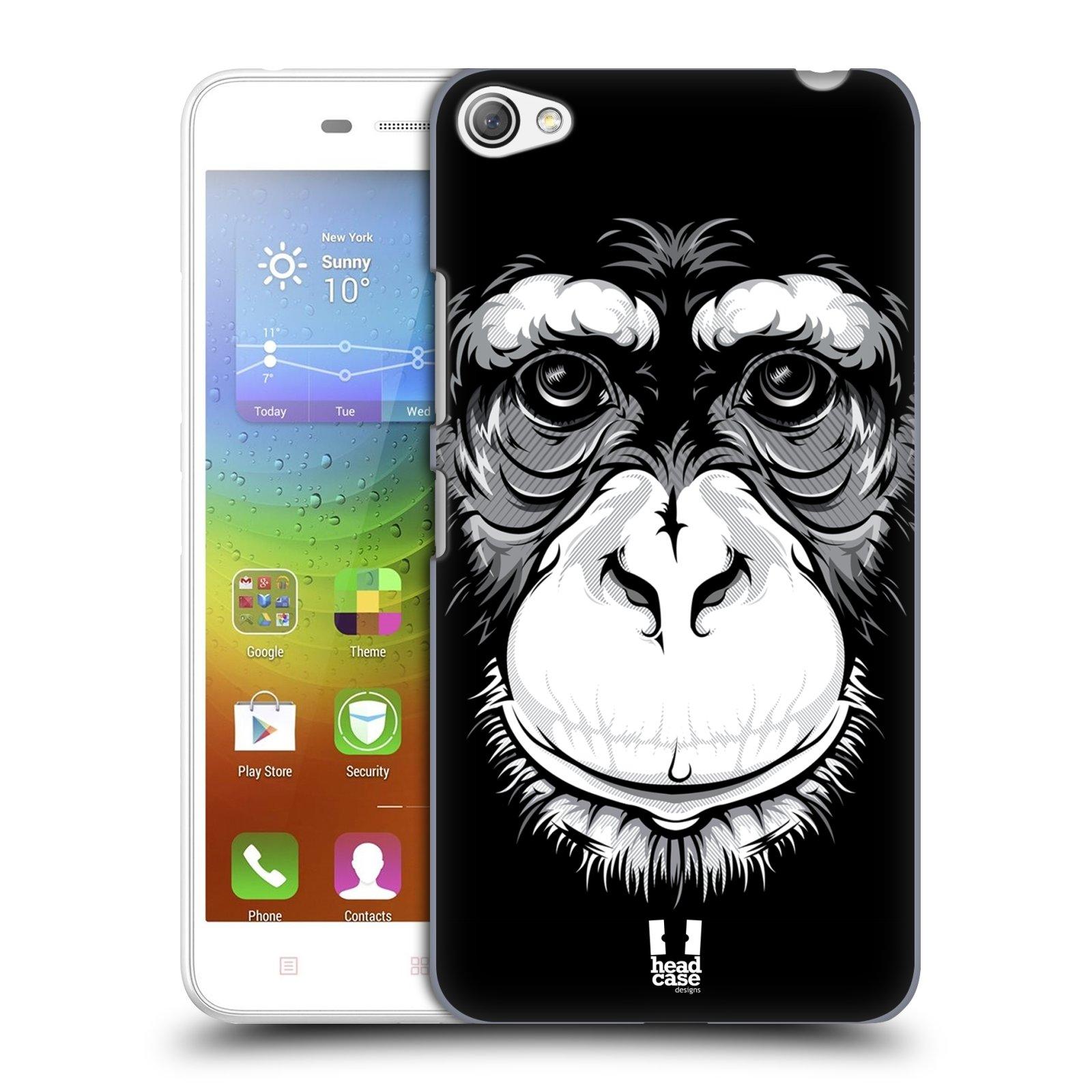 HEAD CASE pevný plastový obal na mobil LENOVO S60 / LENOVO S60 DUAL SIM vzor Zvíře kreslená tvář šimpanz