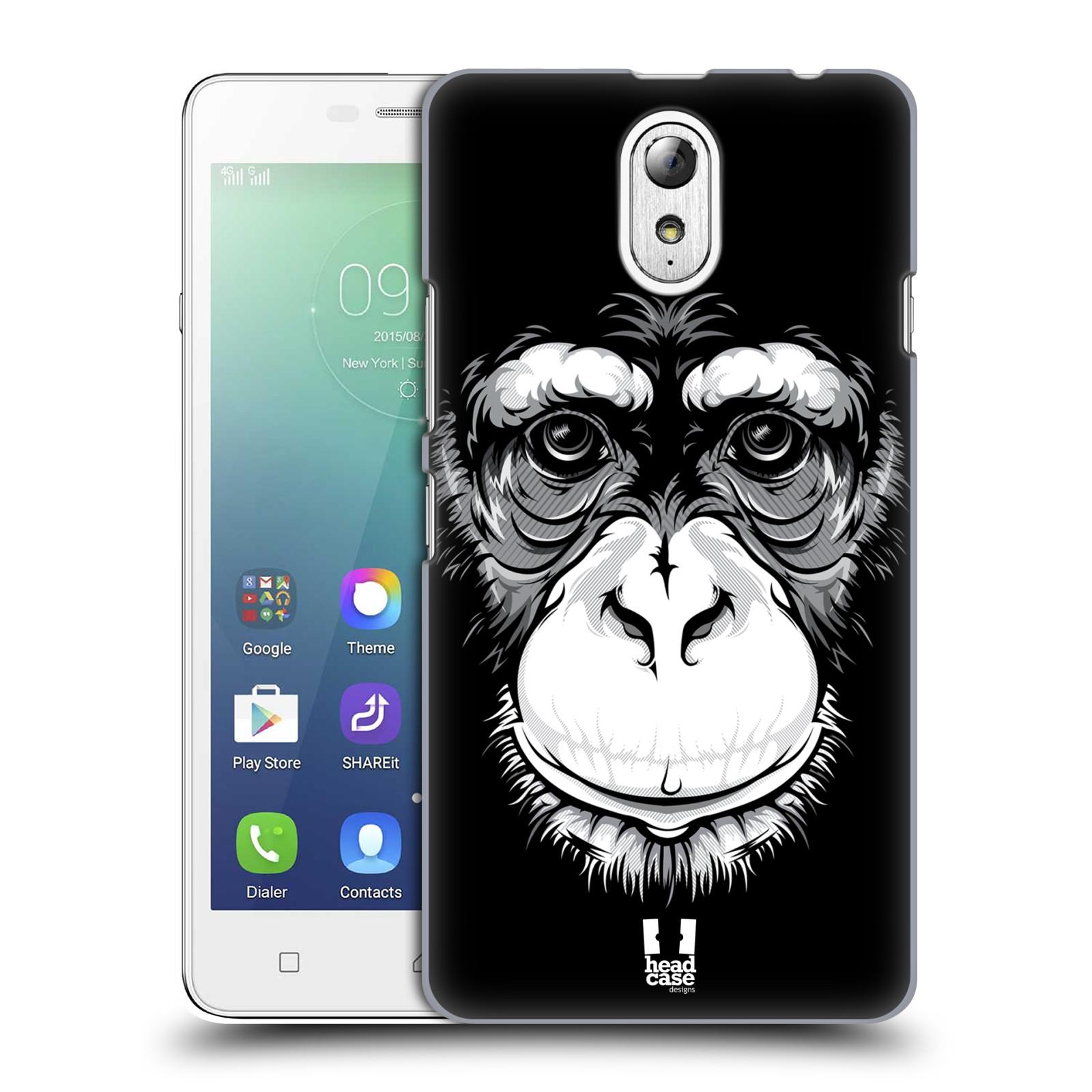 HEAD CASE pevný plastový obal na mobil LENOVO VIBE P1m / LENOVO VIBE p1m DUAL SIM vzor Zvíře kreslená tvář šimpanz