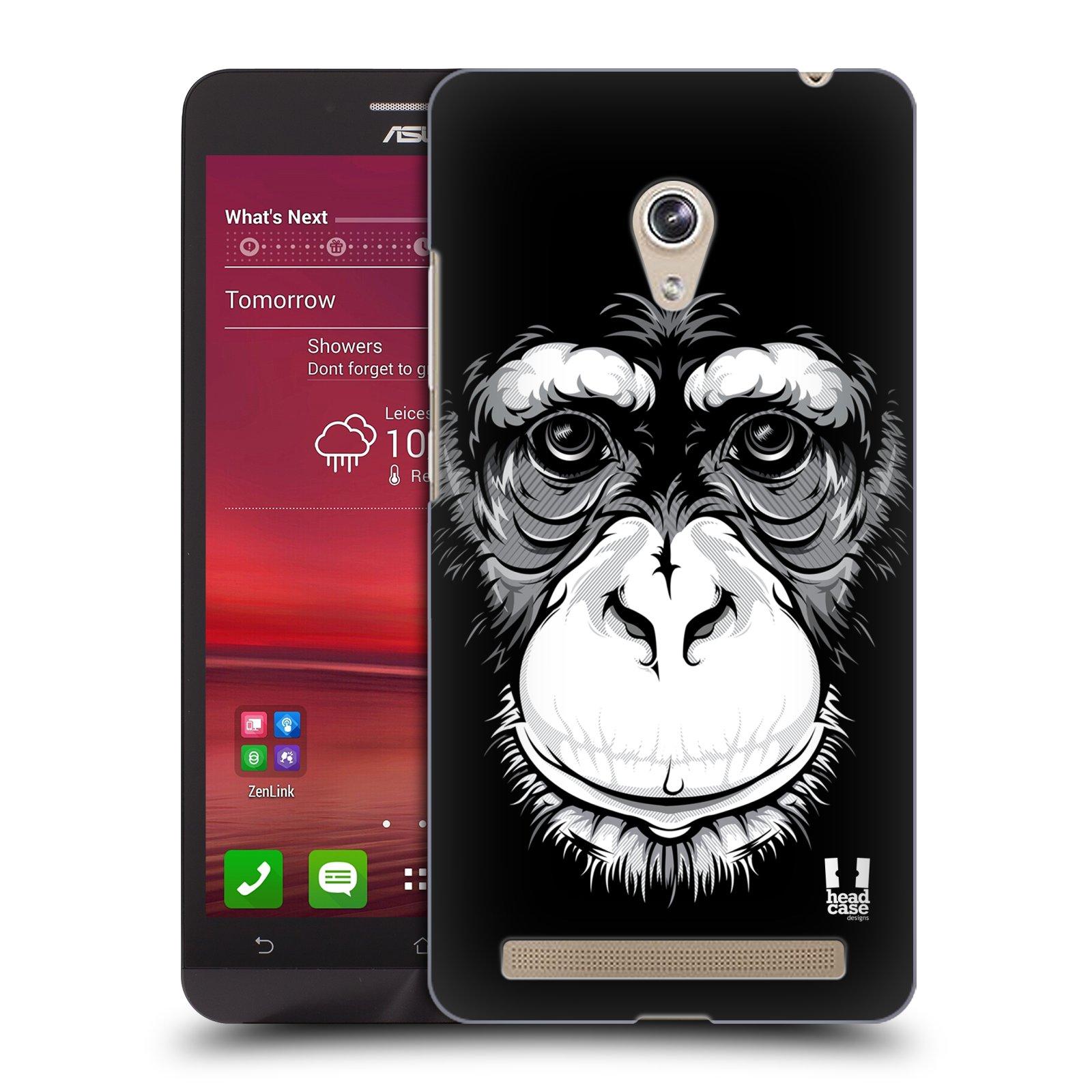 HEAD CASE plastový obal na mobil Asus Zenfone 6 vzor Zvíře kreslená tvář šimpanz