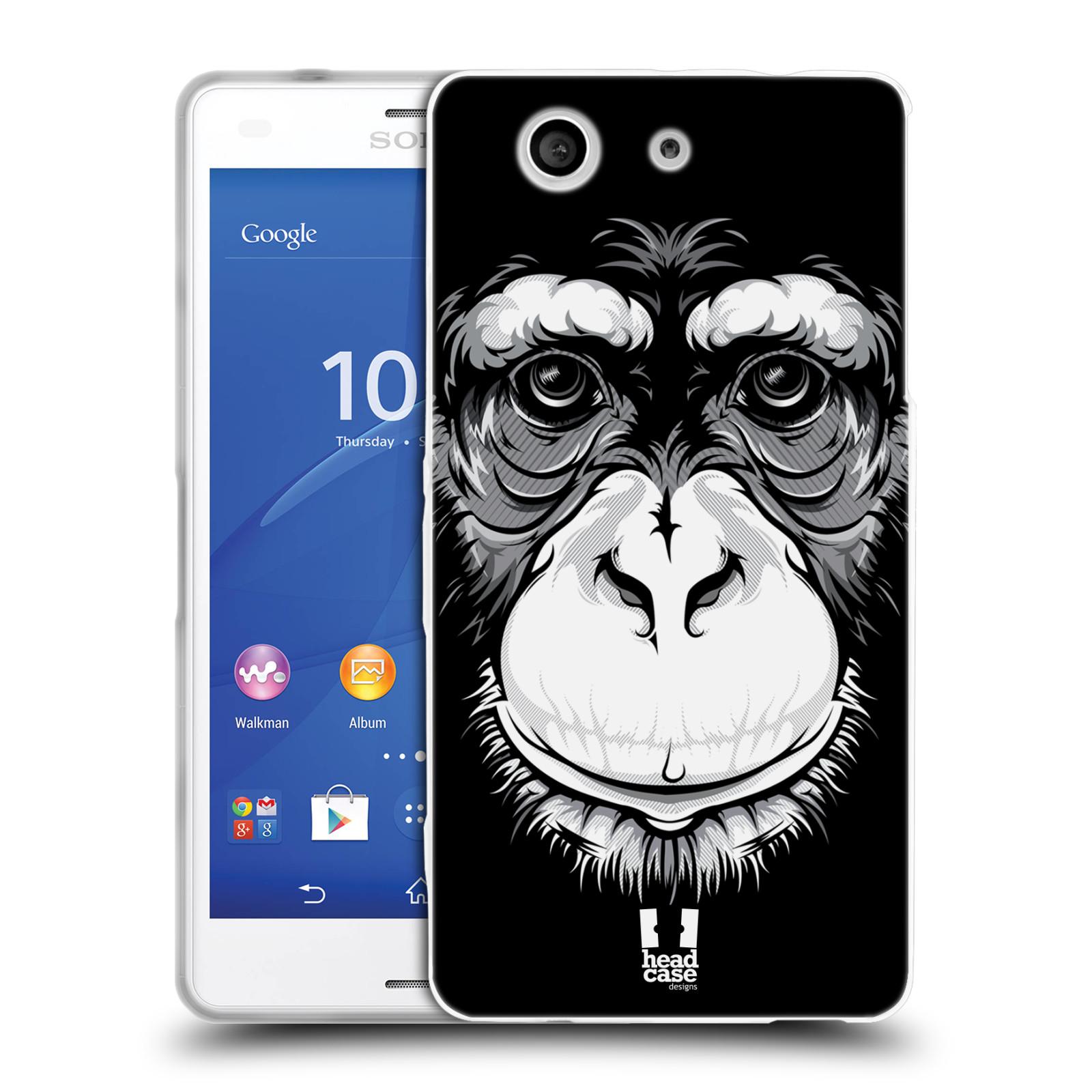 HEAD CASE silikonový obal na mobil Sony Xperia Z3 COMPACT (D5803) vzor Zvíře kreslená tvář šimpanz