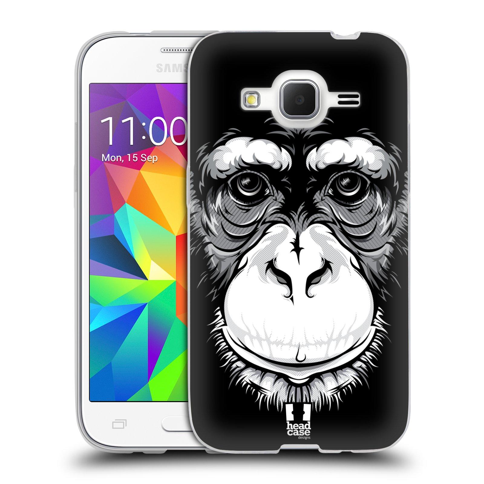 HEAD CASE silikonový obal na mobil Samsung Galaxy Core Prime (G360) vzor Zvíře kreslená tvář šimpanz