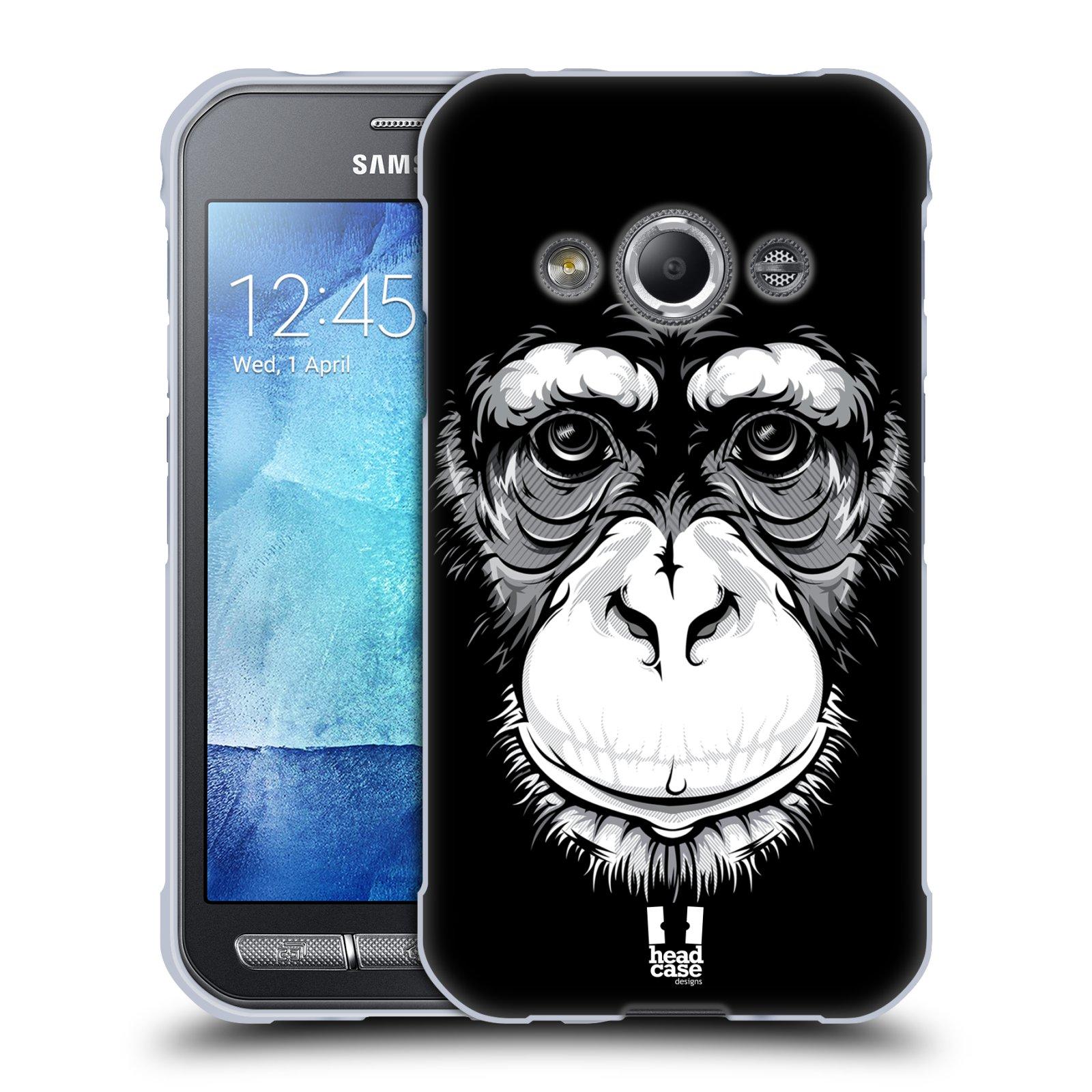 HEAD CASE silikonový obal na mobil Samsung Galaxy Xcover 3 vzor Zvíře kreslená tvář šimpanz