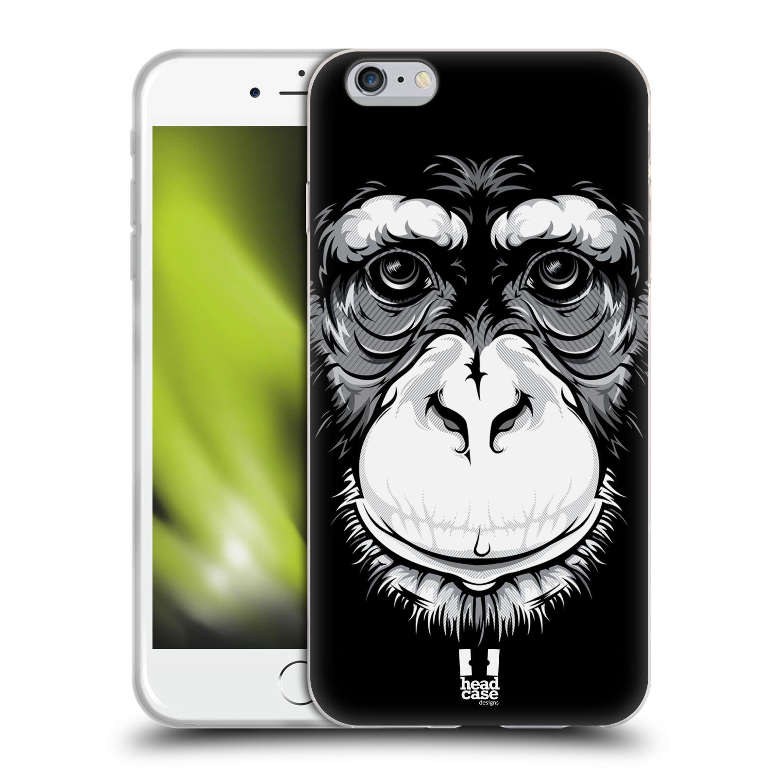 HEAD CASE silikonový obal na mobil Apple Iphone 6 PLUS/ 6S PLUS vzor Zvíře kreslená tvář šimpanz