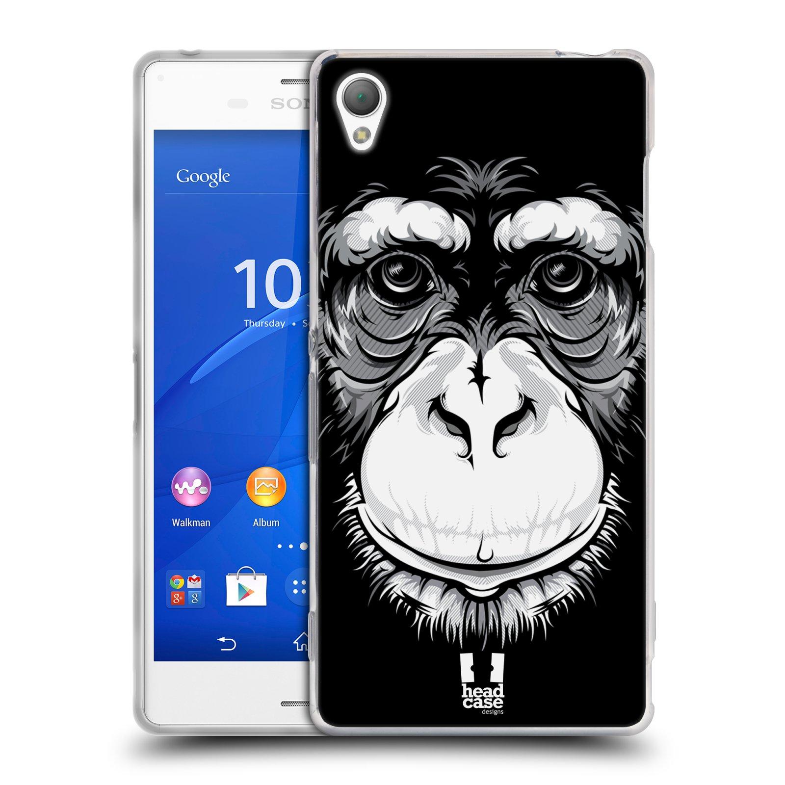 HEAD CASE silikonový obal na mobil Sony Xperia Z3 vzor Zvíře kreslená tvář šimpanz
