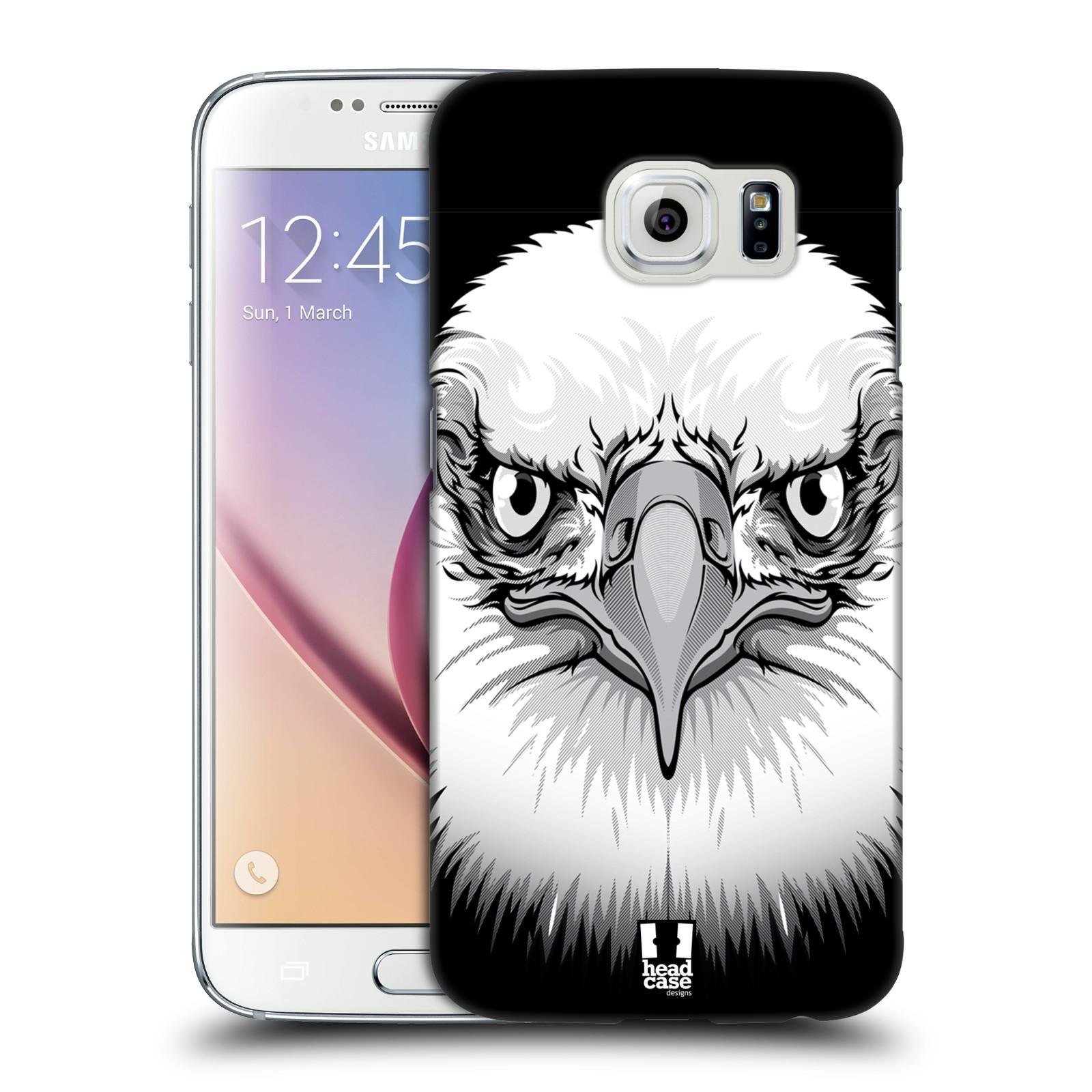 HEAD CASE plastový obal na mobil SAMSUNG Galaxy S6 (G9200, G920F) vzor Zvíře kreslená tvář orel