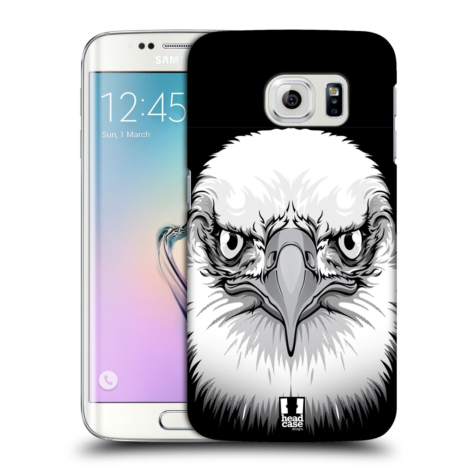 HEAD CASE plastový obal na mobil SAMSUNG Galaxy S6 EDGE (G9250, G925, G925F) vzor Zvíře kreslená tvář orel