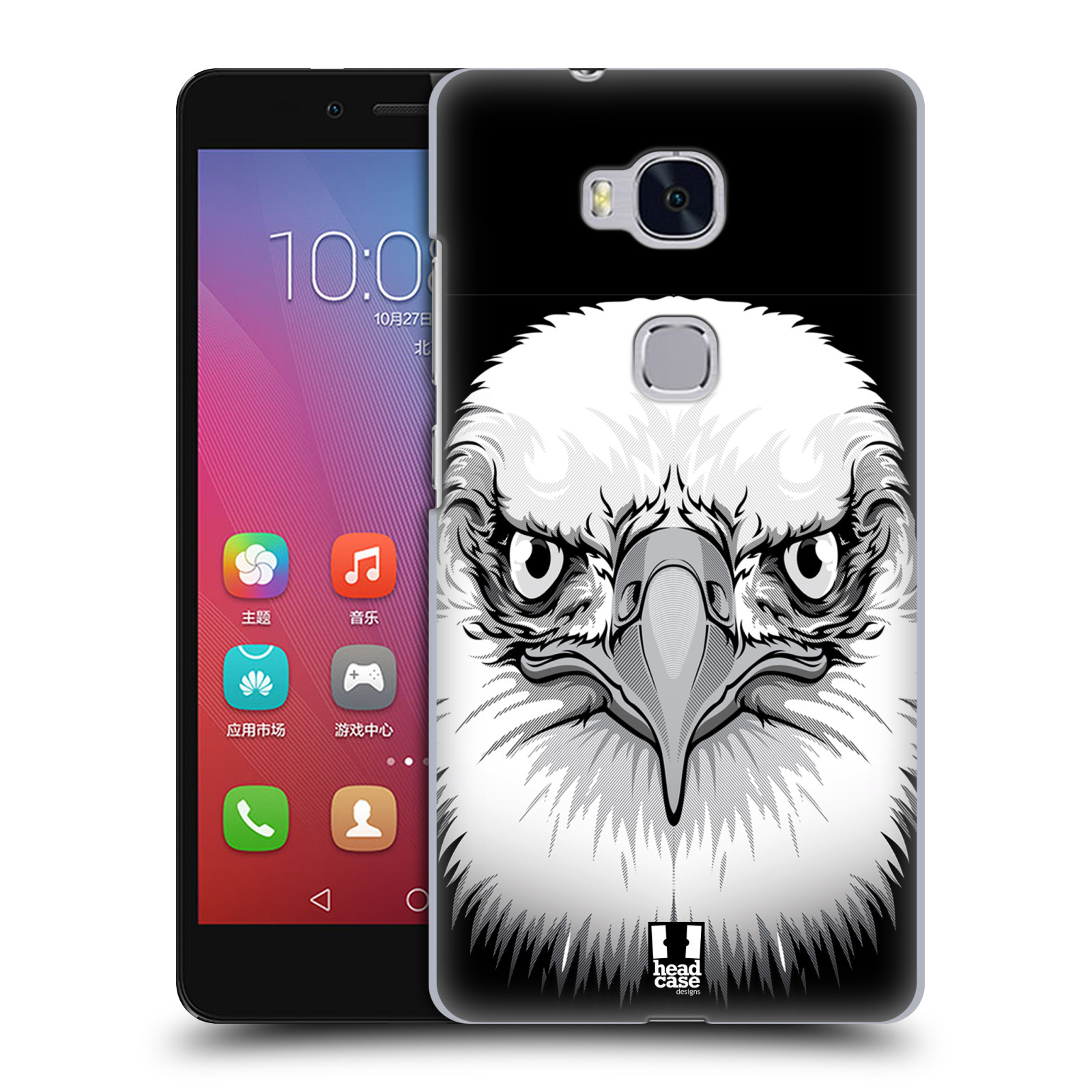 HEAD CASE pevný plastový obal na mobil HUAWEI HONOR 5X vzor Zvíře kreslená tvář orel