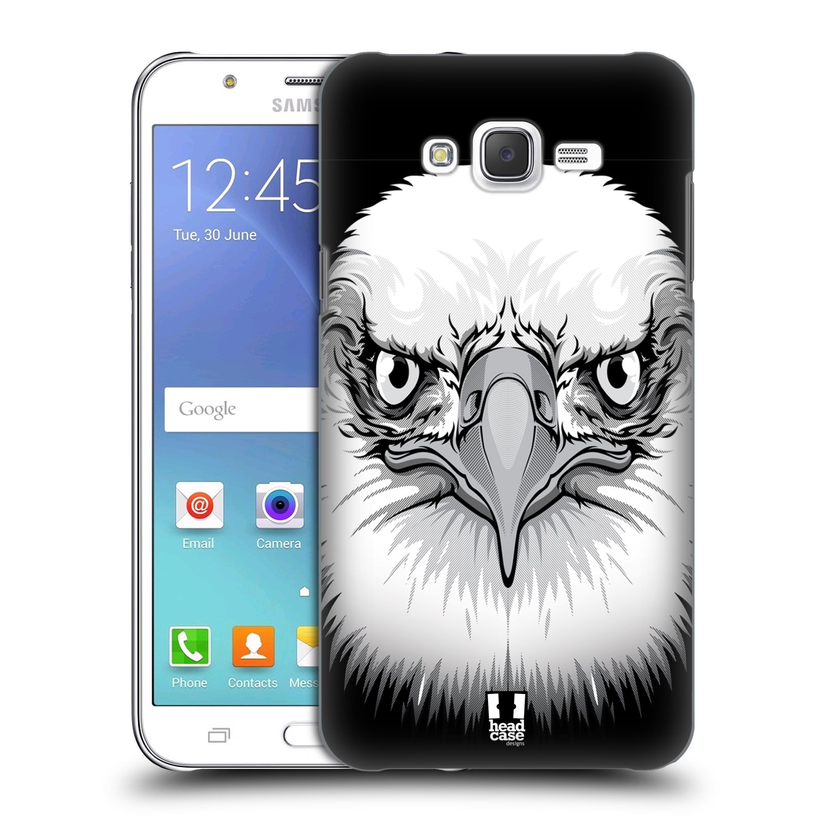 HEAD CASE plastový obal na mobil SAMSUNG Galaxy J7, J700 vzor Zvíře kreslená tvář orel