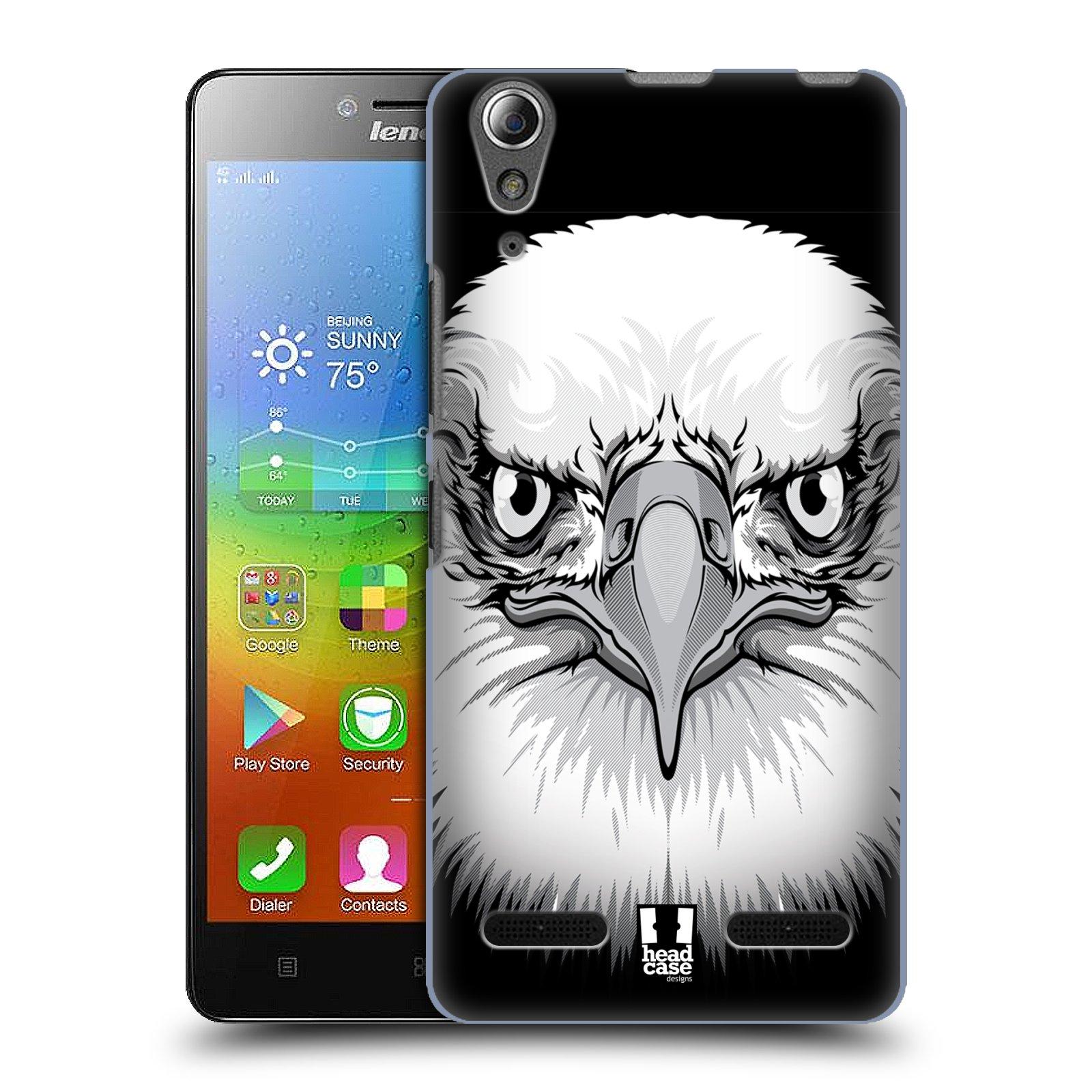 HEAD CASE pevný plastový obal na mobil LENOVO A6000 / A6000 PLUS vzor Zvíře kreslená tvář orel