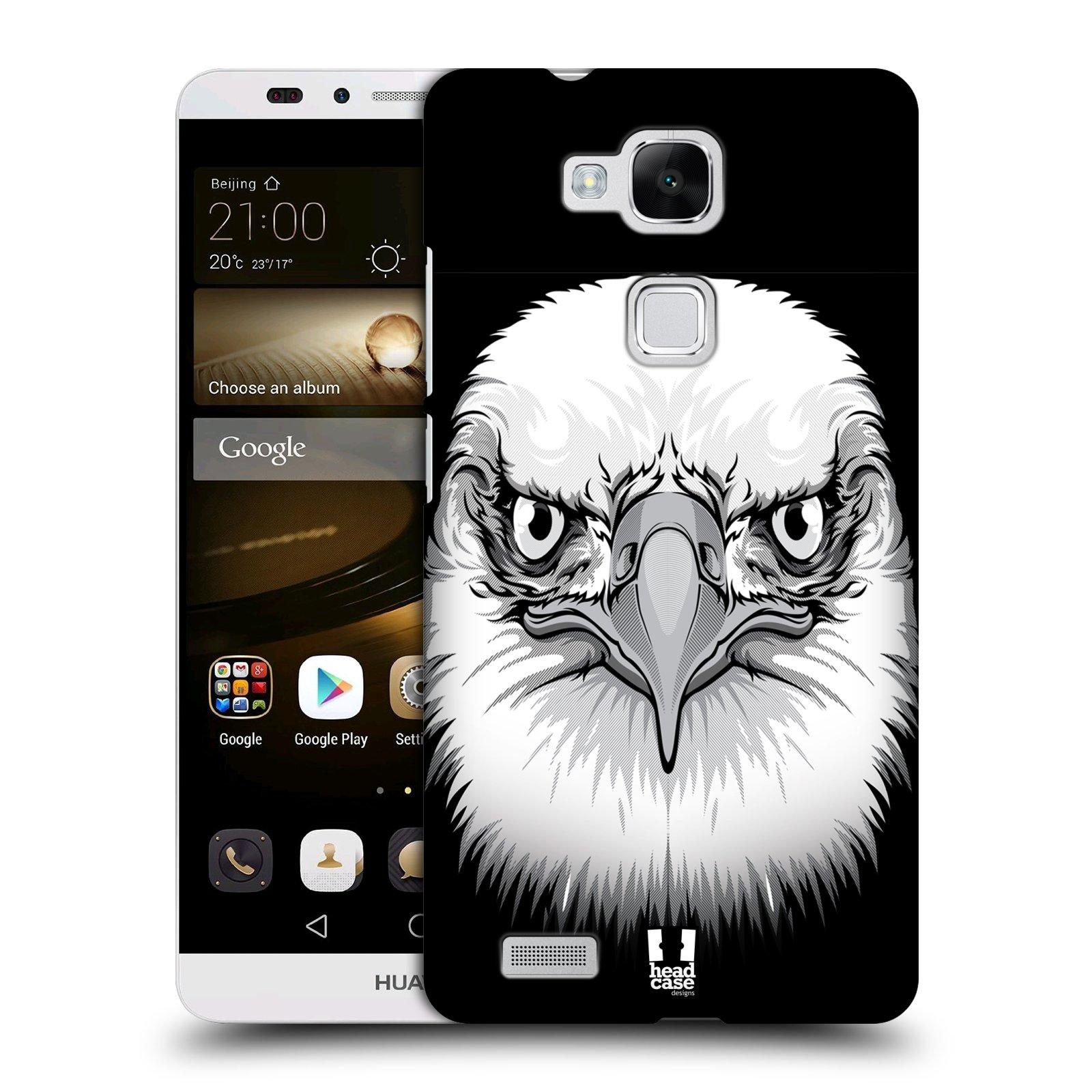 HEAD CASE plastový obal na mobil Huawei Mate 7 vzor Zvíře kreslená tvář orel