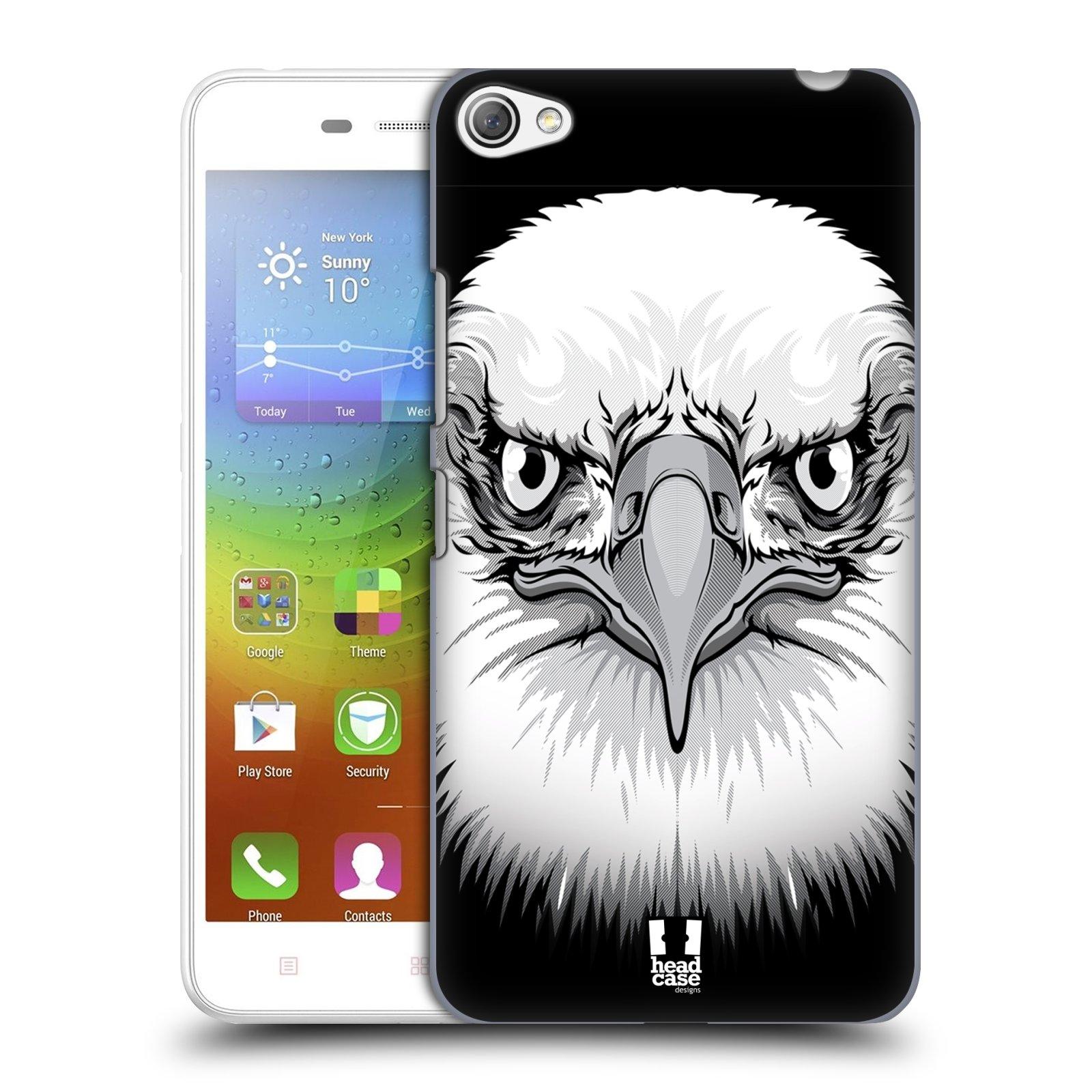 HEAD CASE pevný plastový obal na mobil LENOVO S60 / LENOVO S60 DUAL SIM vzor Zvíře kreslená tvář orel