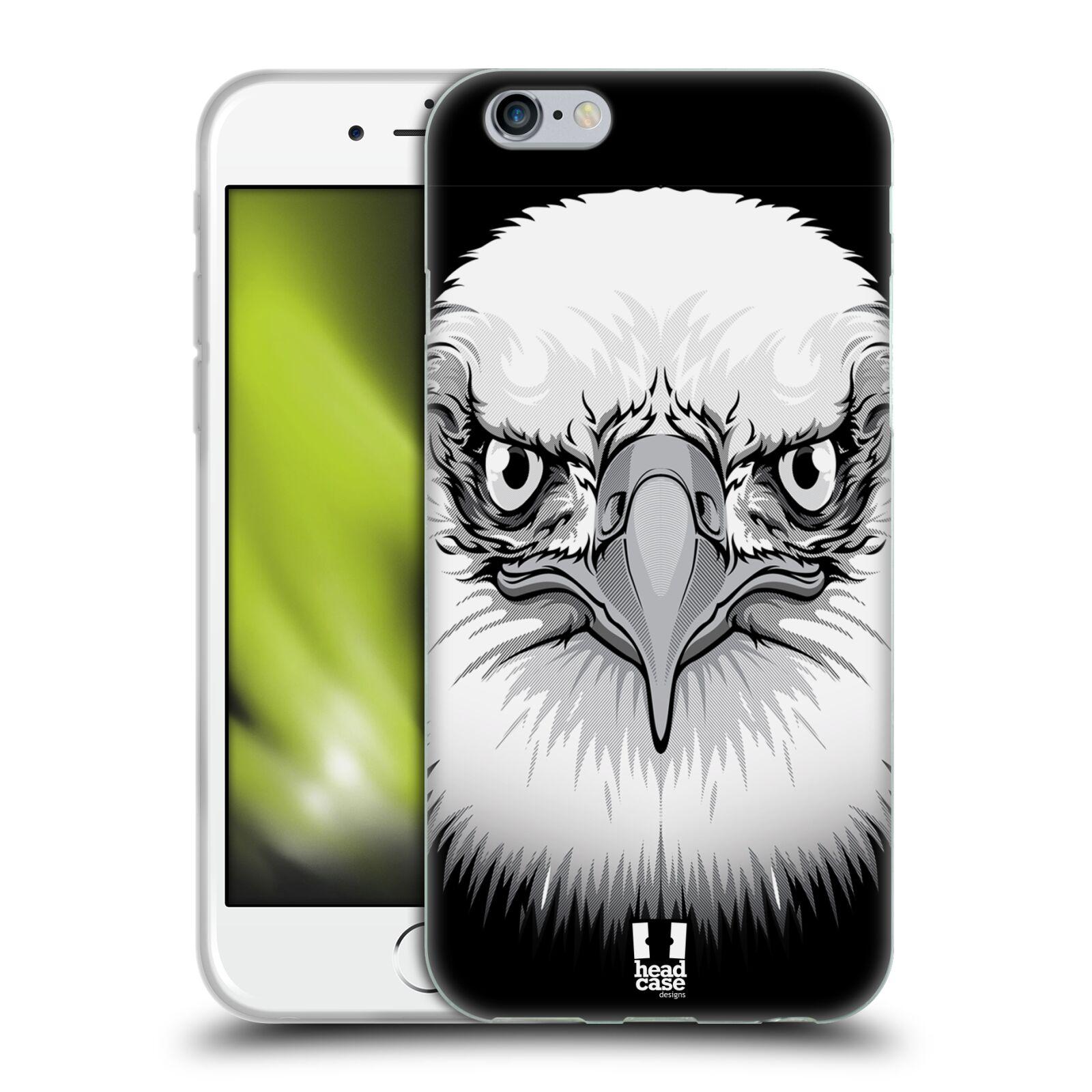 HEAD CASE silikonový obal na mobil Apple Iphone 6/6S vzor Zvíře kreslená tvář orel
