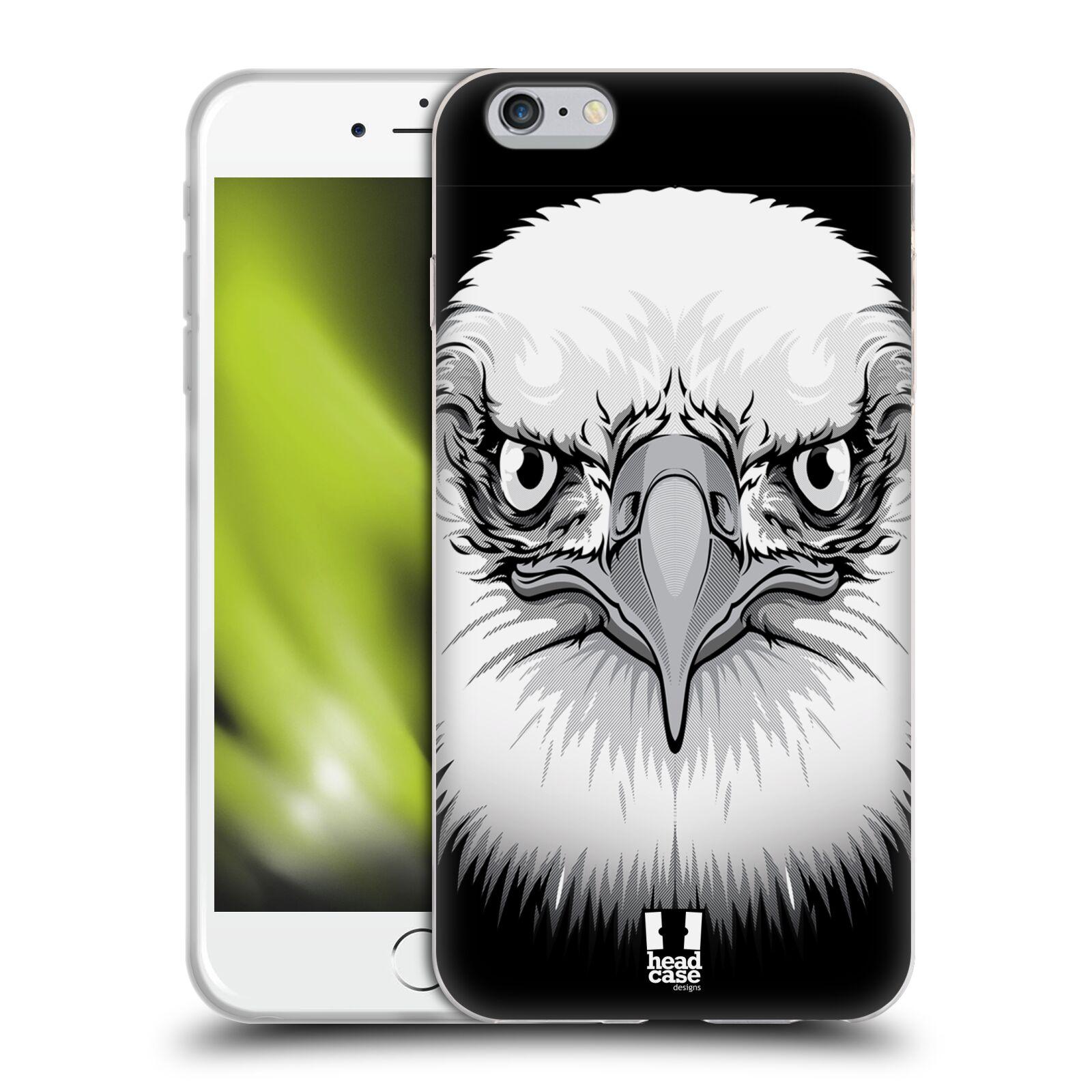 HEAD CASE silikonový obal na mobil Apple Iphone 6 PLUS/ 6S PLUS vzor Zvíře kreslená tvář orel