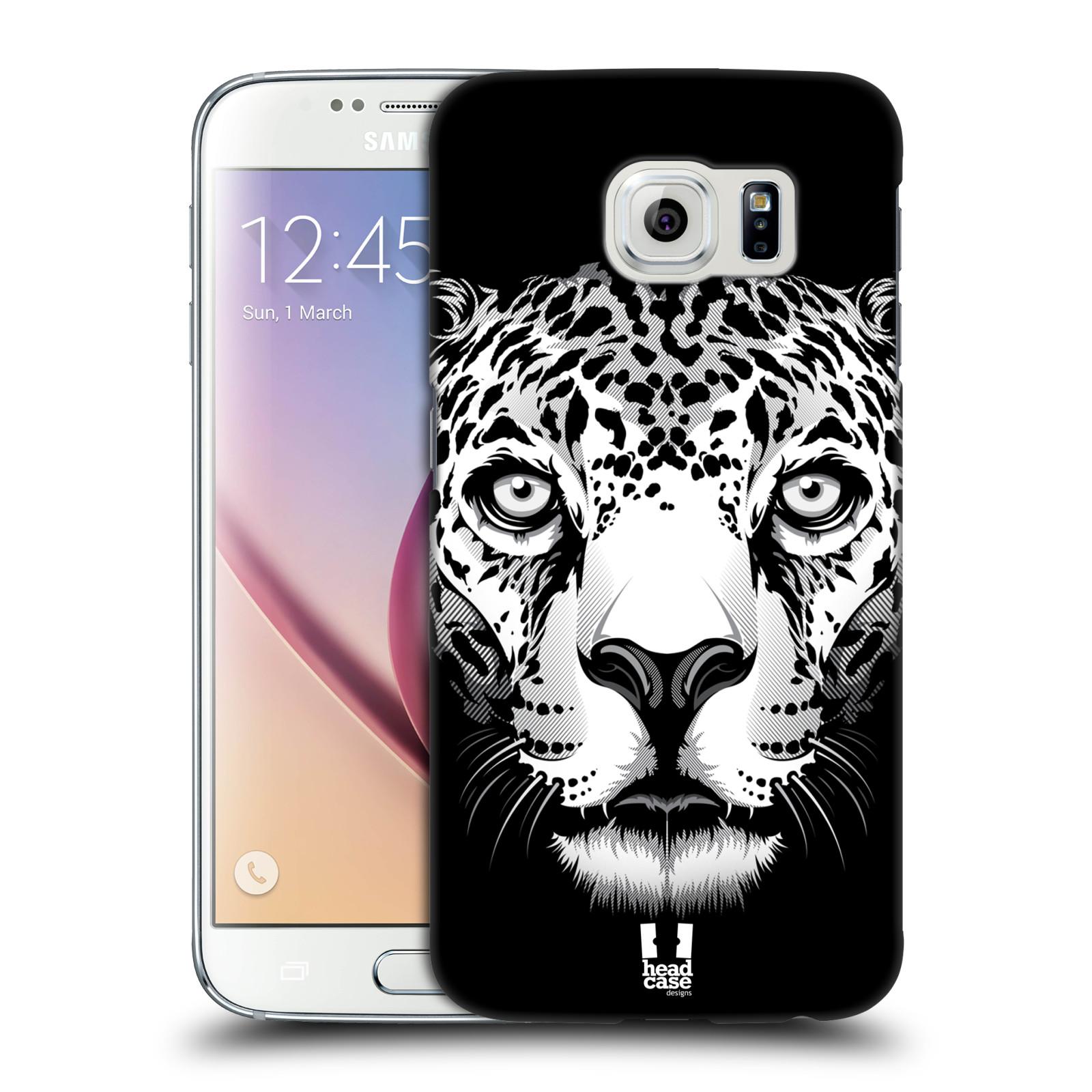 HEAD CASE plastový obal na mobil SAMSUNG Galaxy S6 (G9200, G920F) vzor Zvíře kreslená tvář leopard