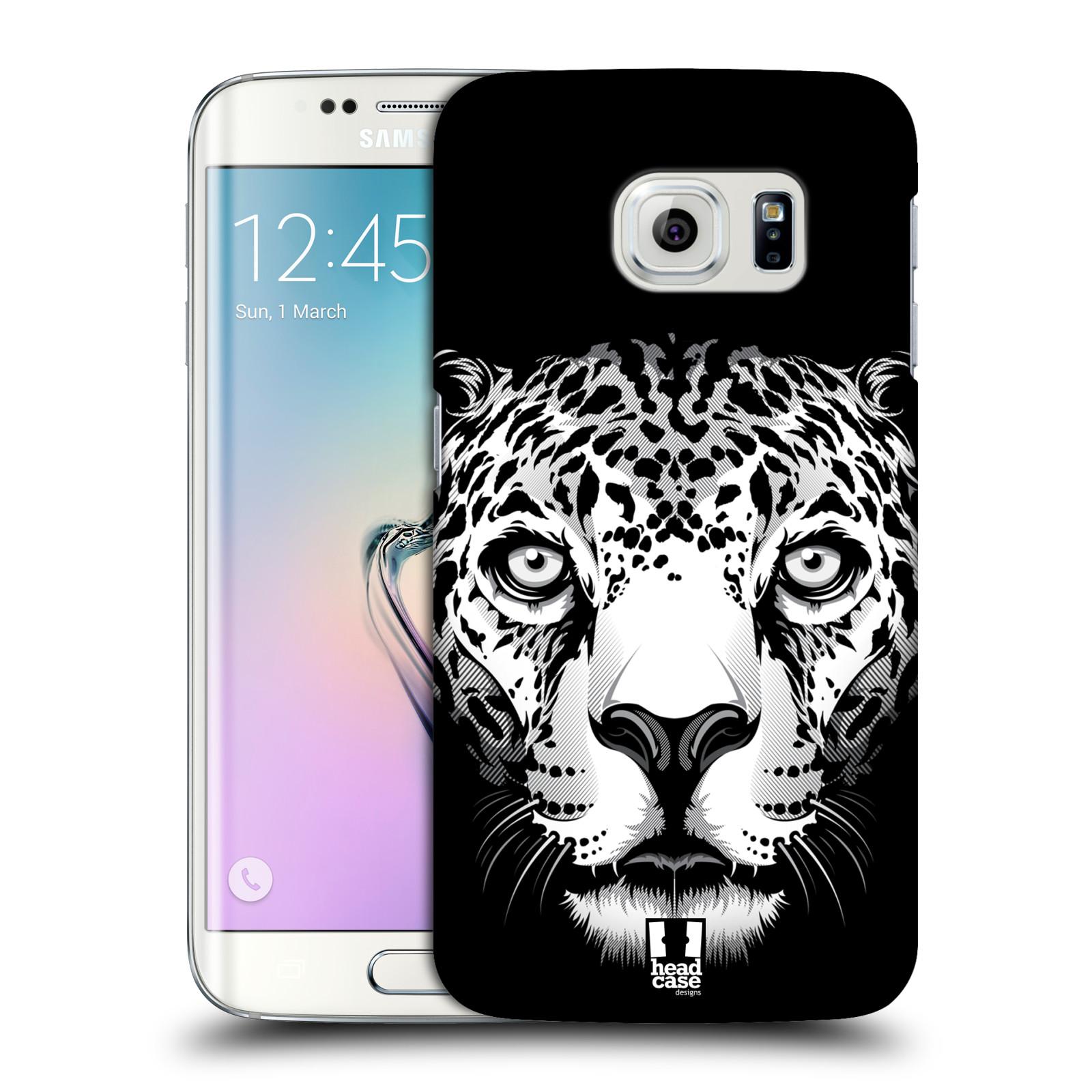 HEAD CASE plastový obal na mobil SAMSUNG Galaxy S6 EDGE (G9250, G925, G925F) vzor Zvíře kreslená tvář leopard