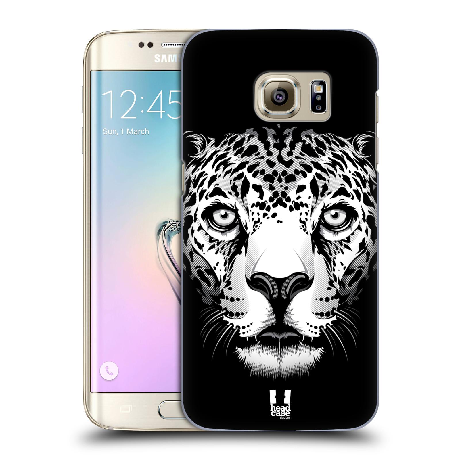 HEAD CASE plastový obal na mobil SAMSUNG GALAXY S7 EDGE vzor Zvíře kreslená tvář leopard