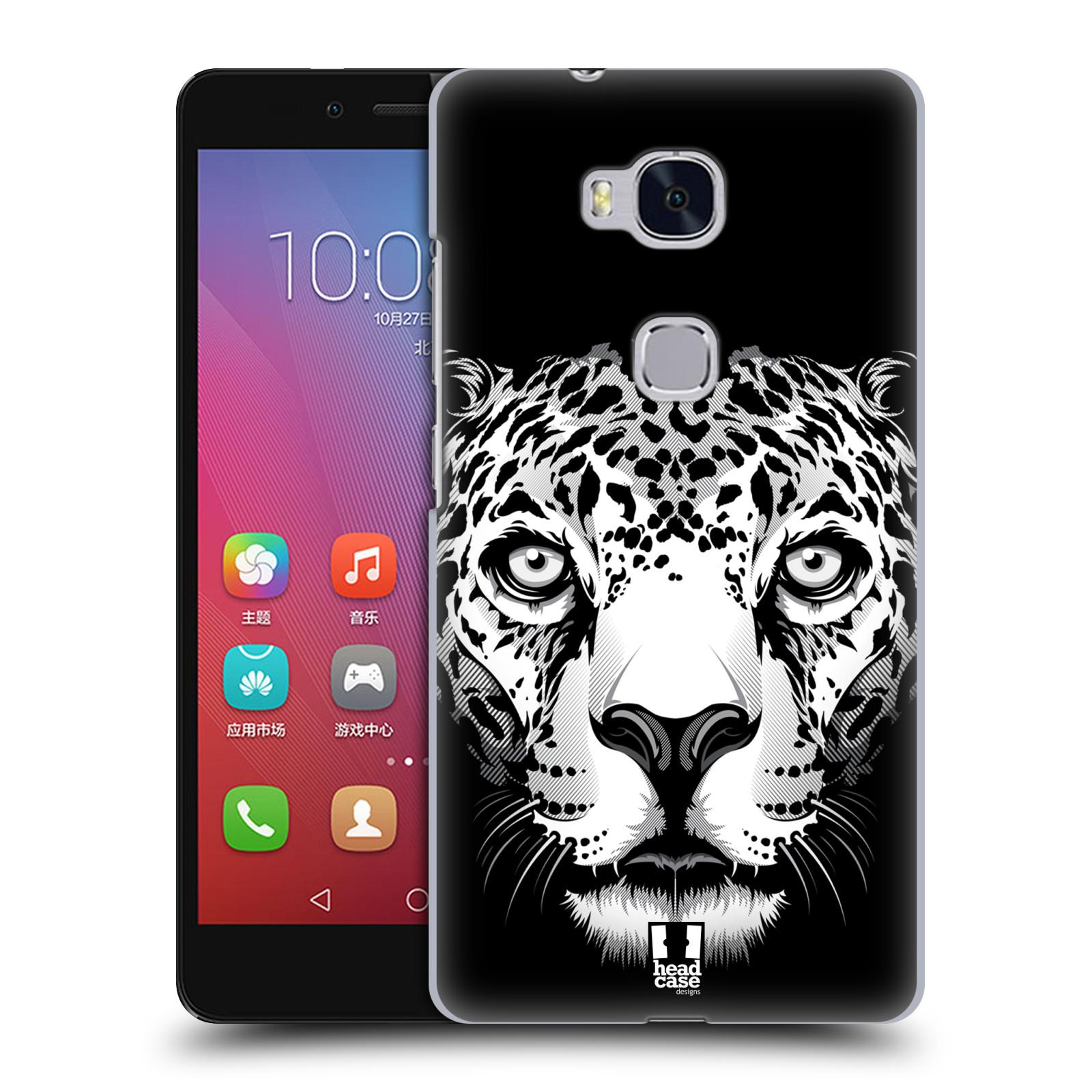 HEAD CASE pevný plastový obal na mobil HUAWEI HONOR 5X vzor Zvíře kreslená tvář leopard