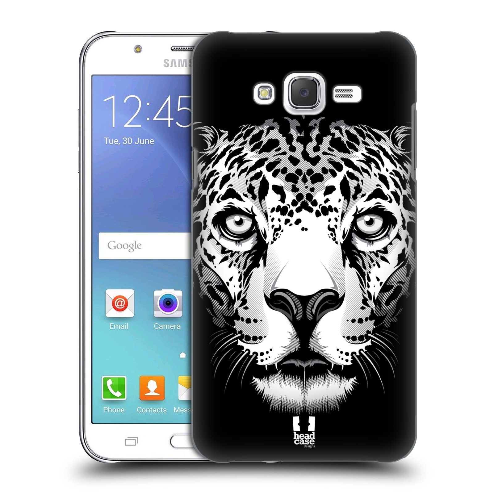 HEAD CASE plastový obal na mobil SAMSUNG Galaxy J7, J700 vzor Zvíře kreslená tvář leopard